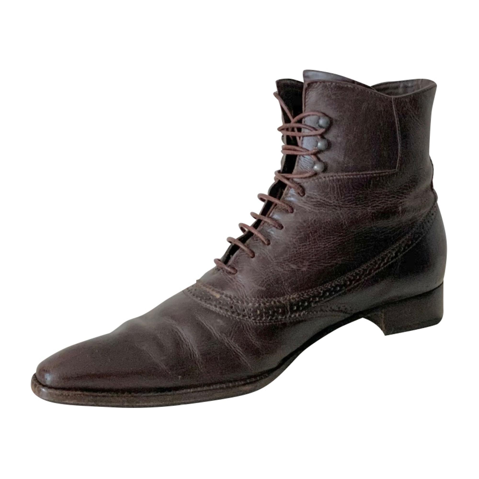 Bottines & low boots plates HESCHUNG Marron
