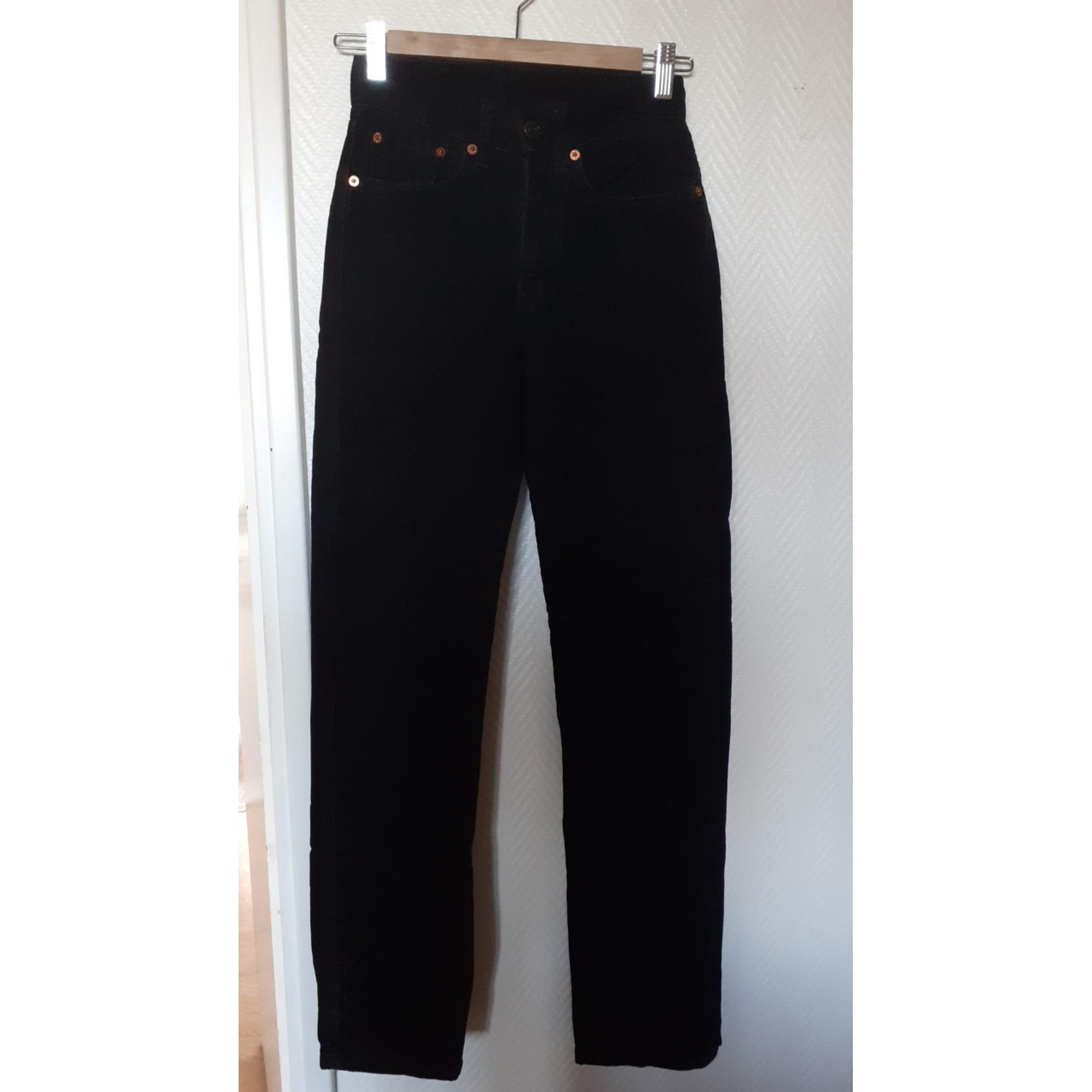Pantalon droit LEVI'S Noir