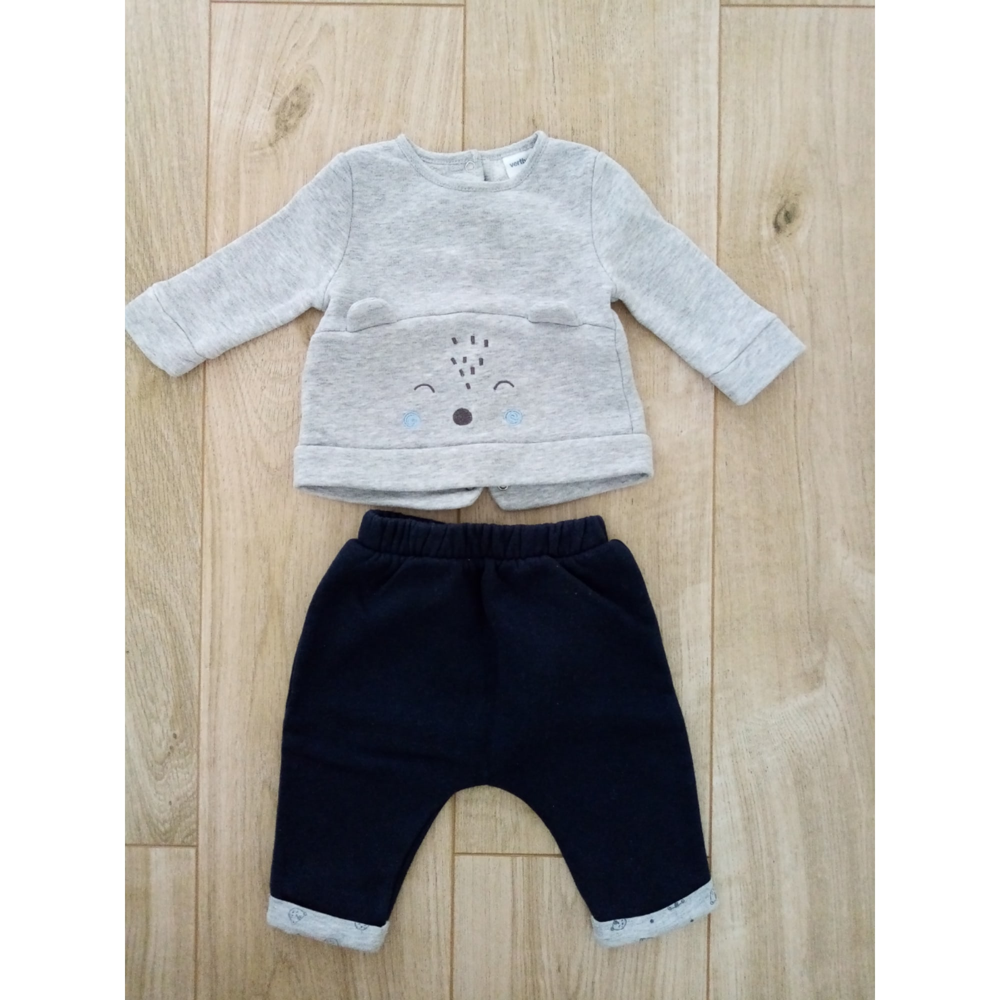 Pants Set, Outfit VERTBAUDET Gray, charcoal