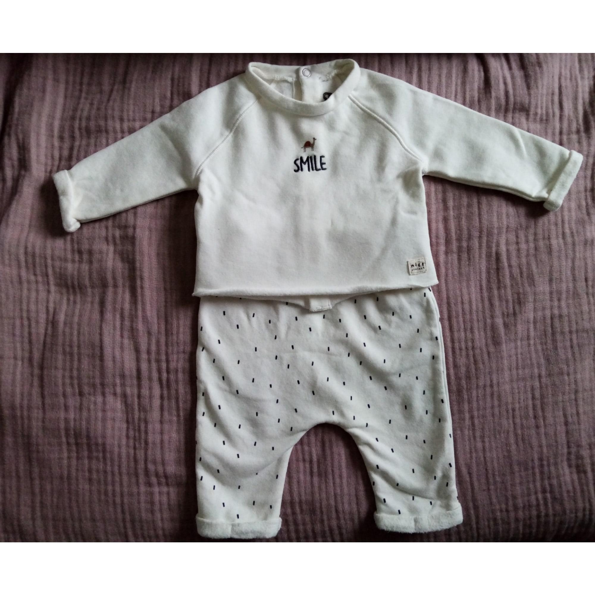 Pants Set, Outfit LA REDOUTE White, off-white, ecru