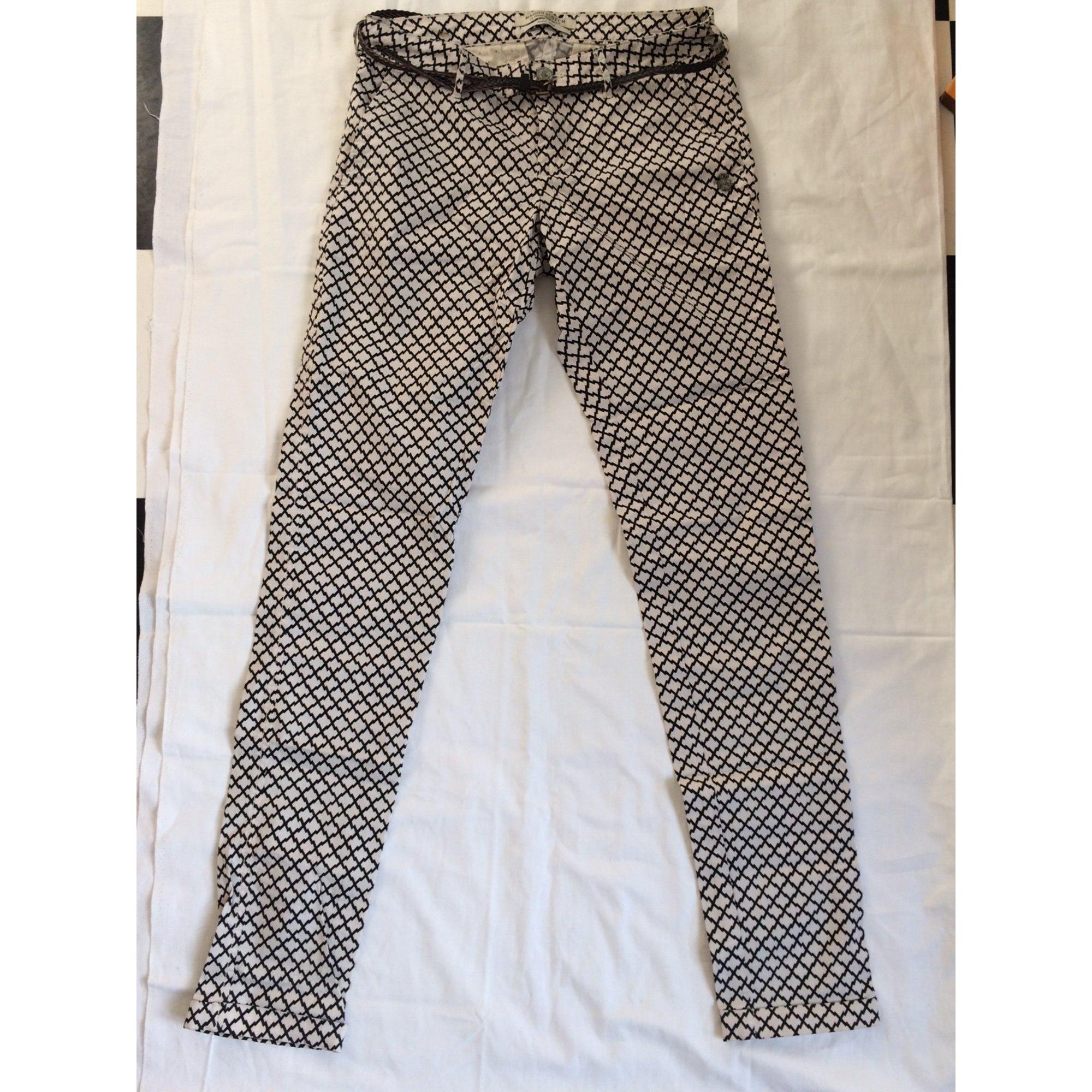 Pantalon slim, cigarette MAISON SCOTCH Multicouleur
