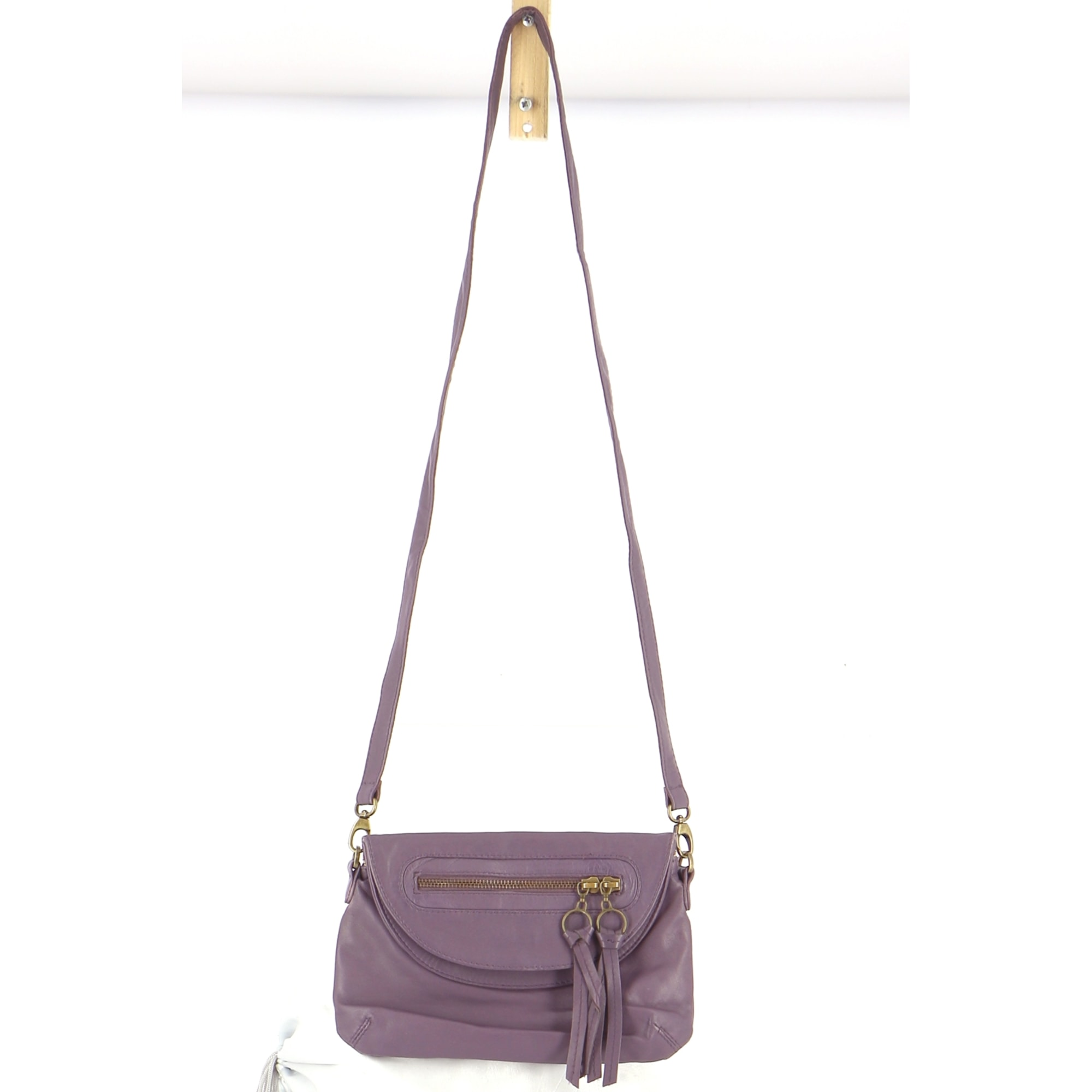 Lederhandtasche PETITE MENDIGOTE Violett, malvenfarben, lavendelfarben