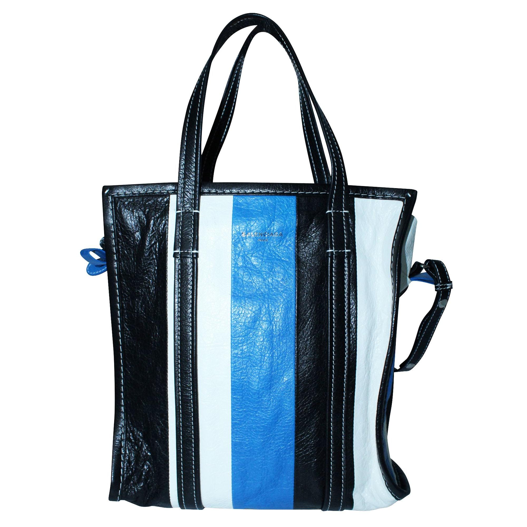 Sac à main en cuir BALENCIAGA Bazar Bleu, bleu marine, bleu turquoise