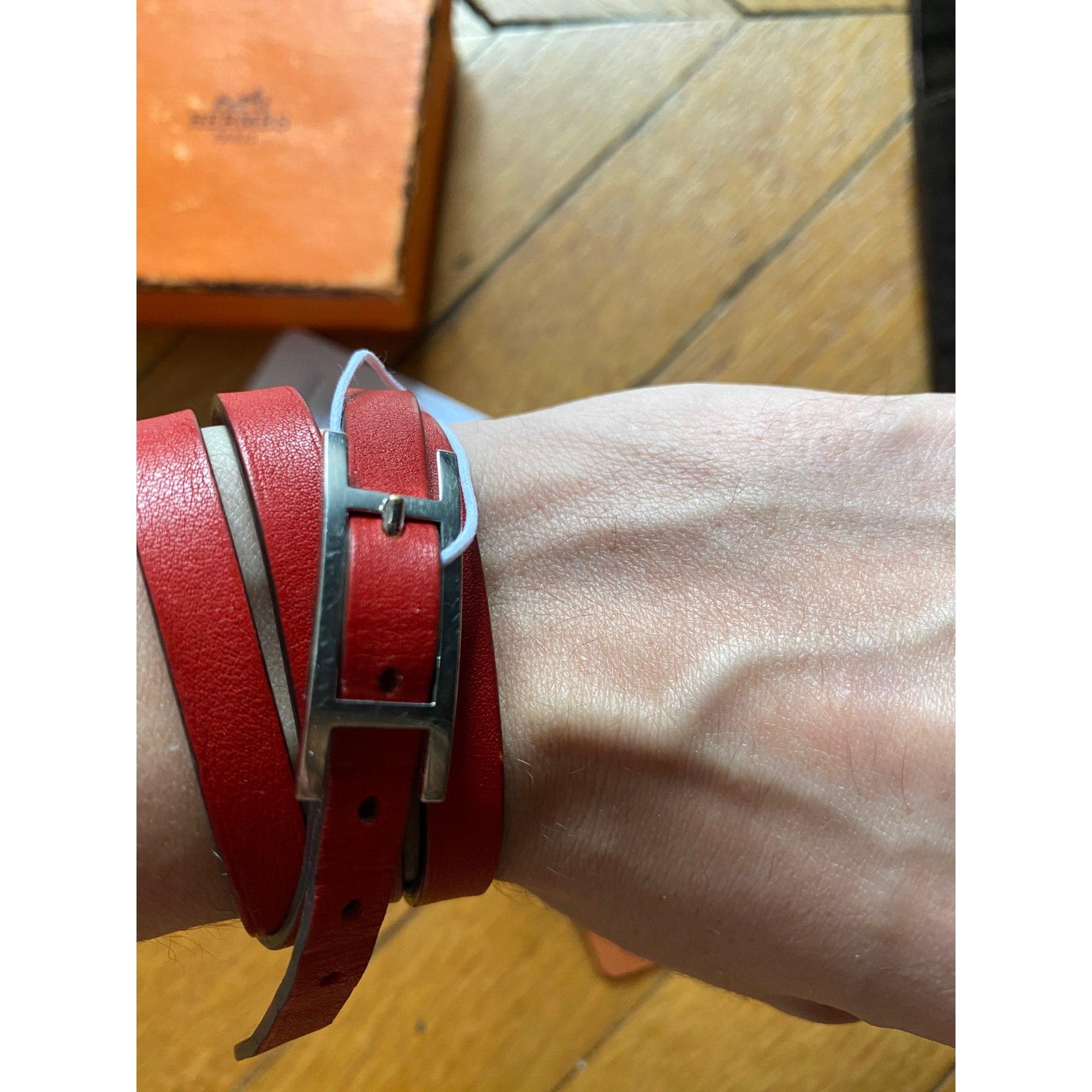 Bracelet HERMÈS Hapi Rouge, bordeaux