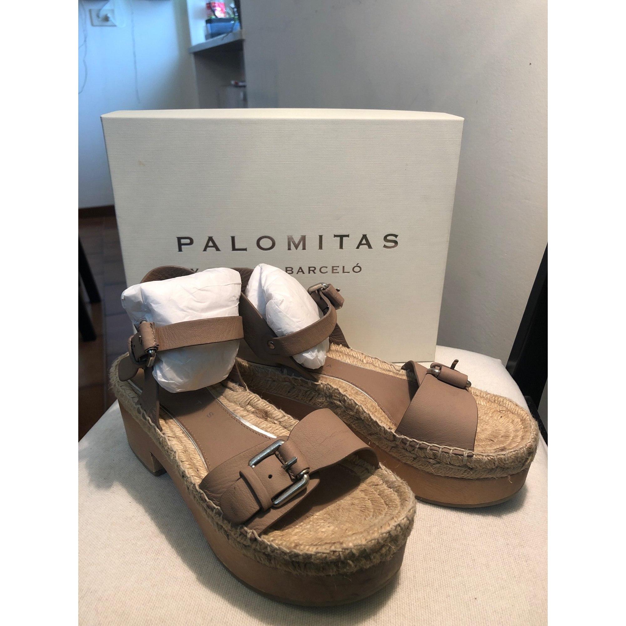Sandales compensées PALOMA BARCELO Beige, camel