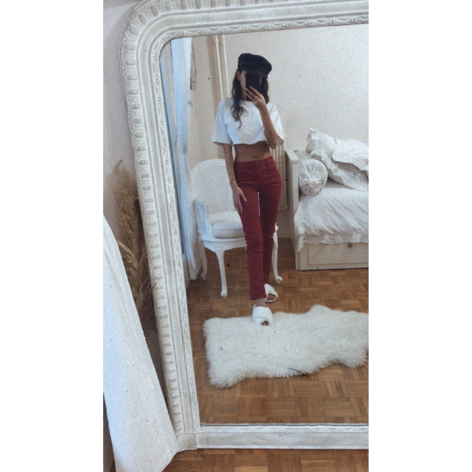 Jeans slim THE KOOPLES Rouge, bordeaux