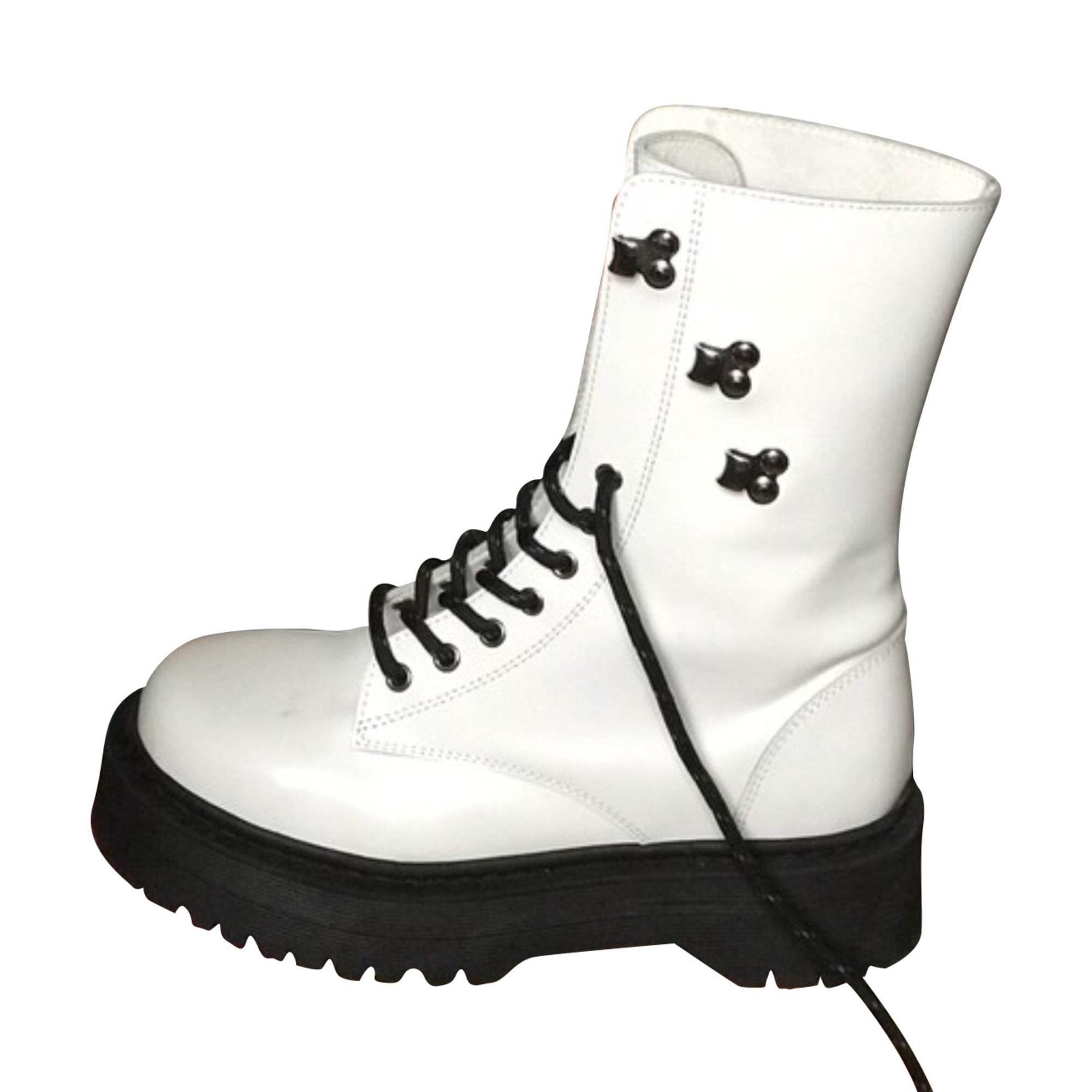 Bottines & low boots motards THE KOOPLES Blanc, blanc cassé, écru