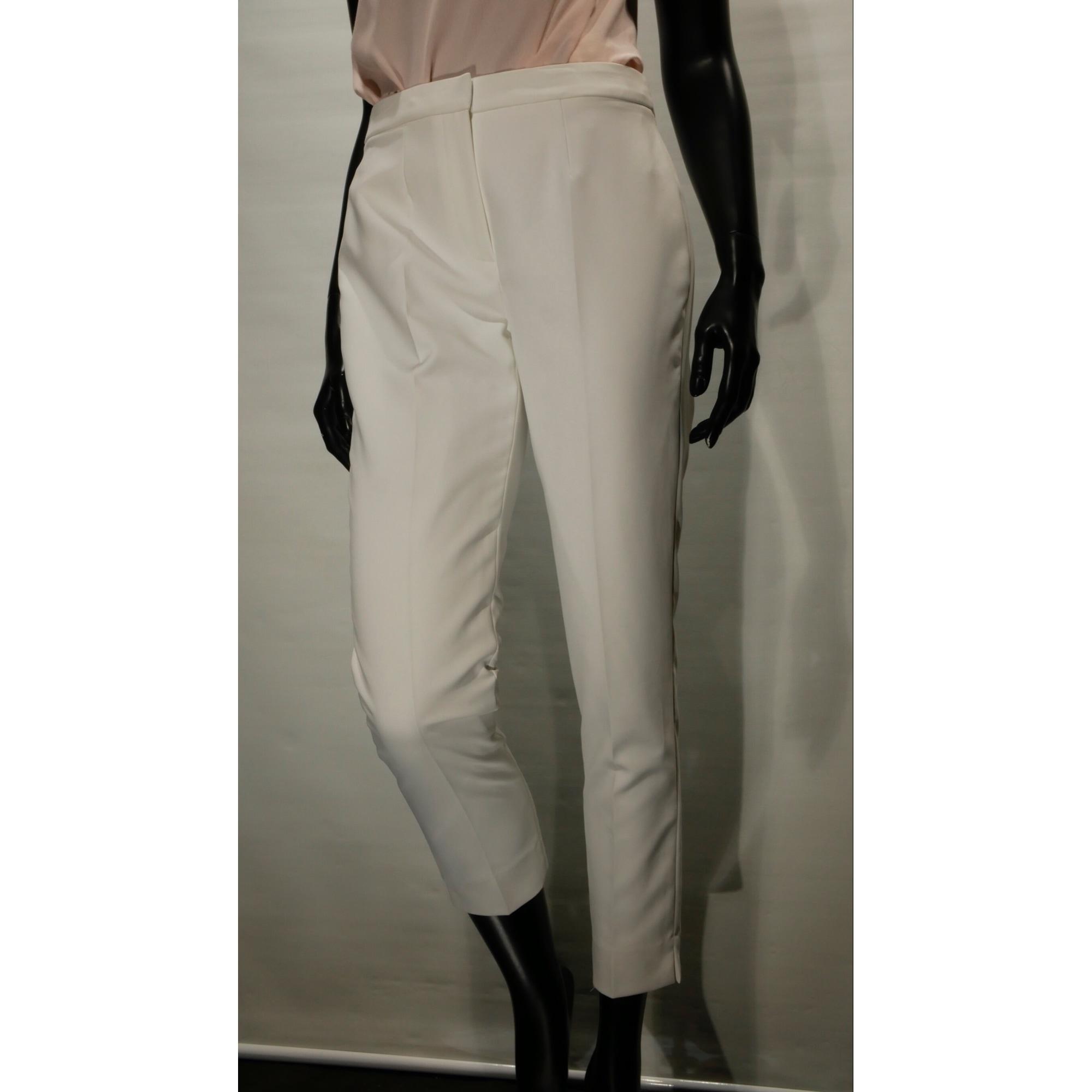 Pantalon droit UN JOUR AILLEURS Blanc, blanc cassé, écru