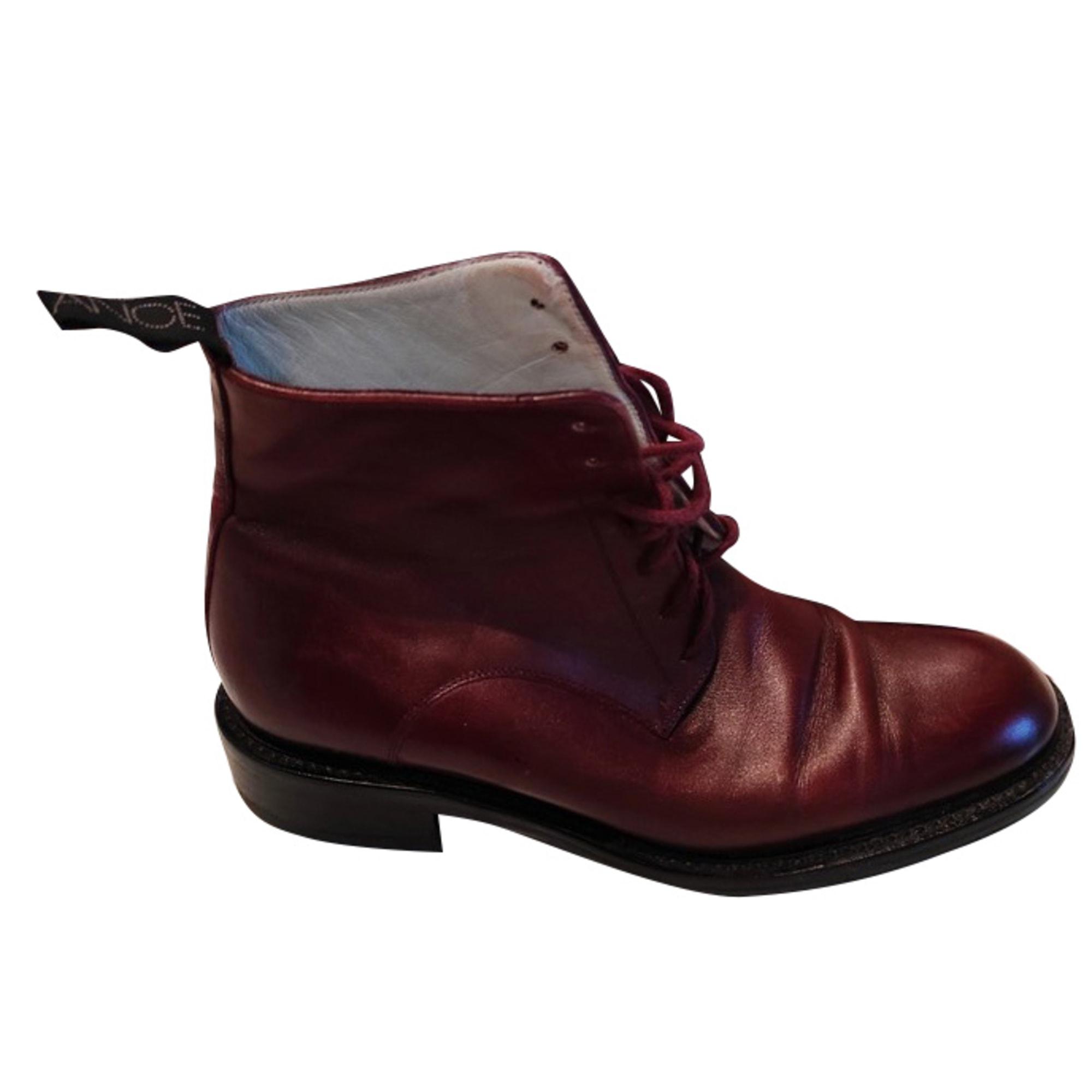 Bottines & low boots plates FREE LANCE Rouge, bordeaux