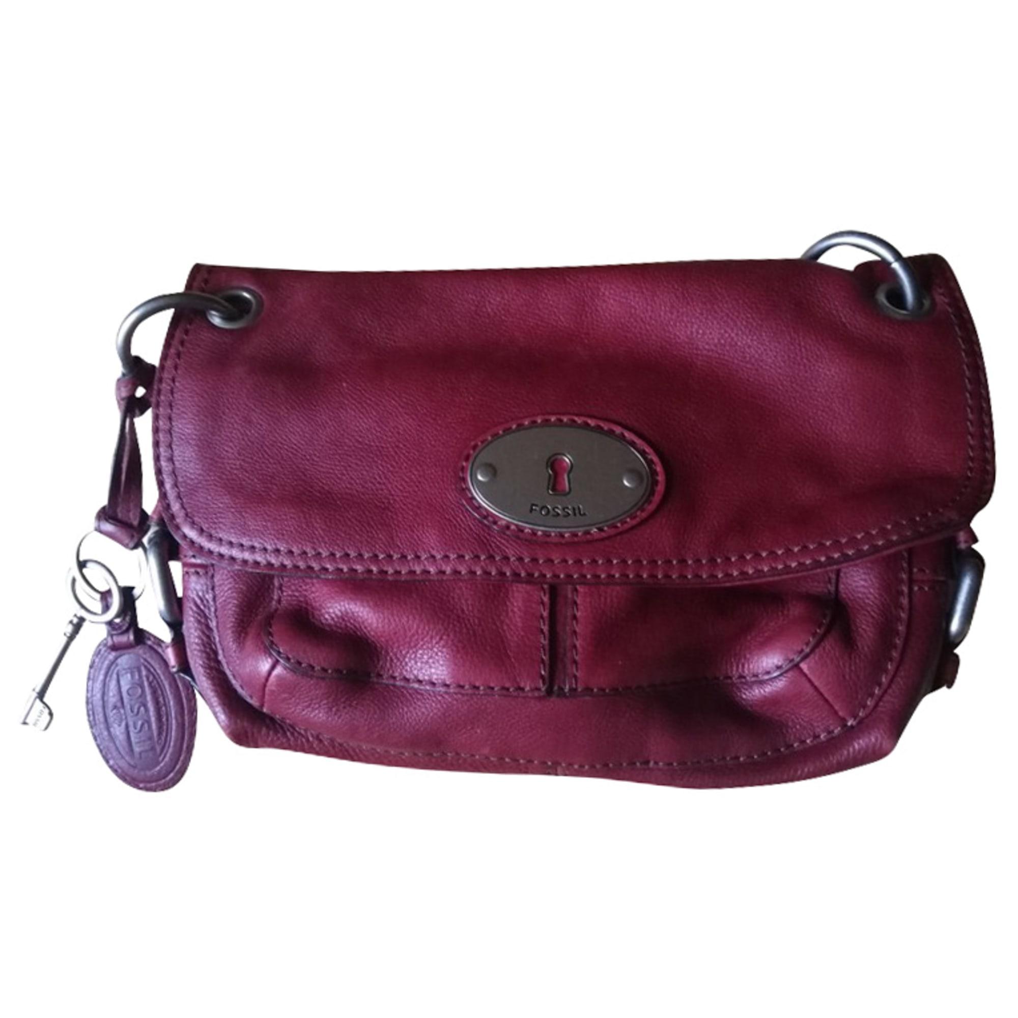 Lederhandtasche FOSSIL Rot, bordeauxrot