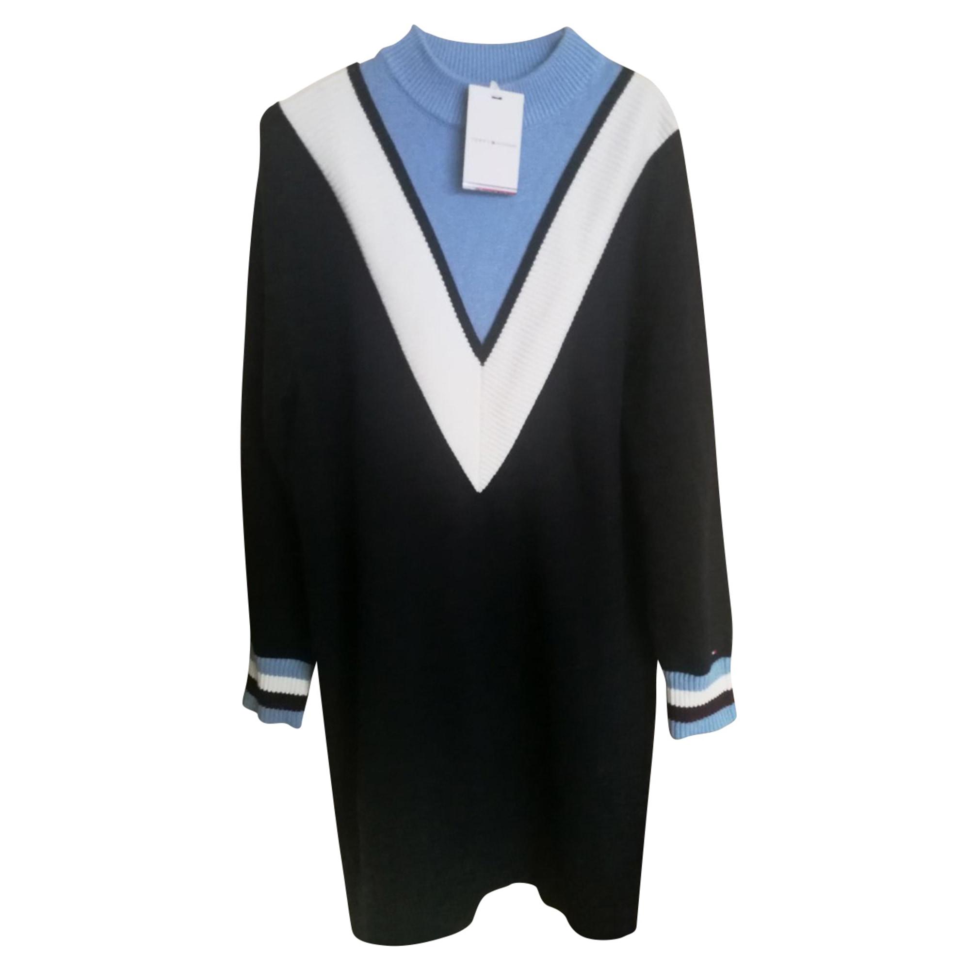 Robe mi-longue TOMMY HILFIGER Bleu, bleu marine, bleu turquoise