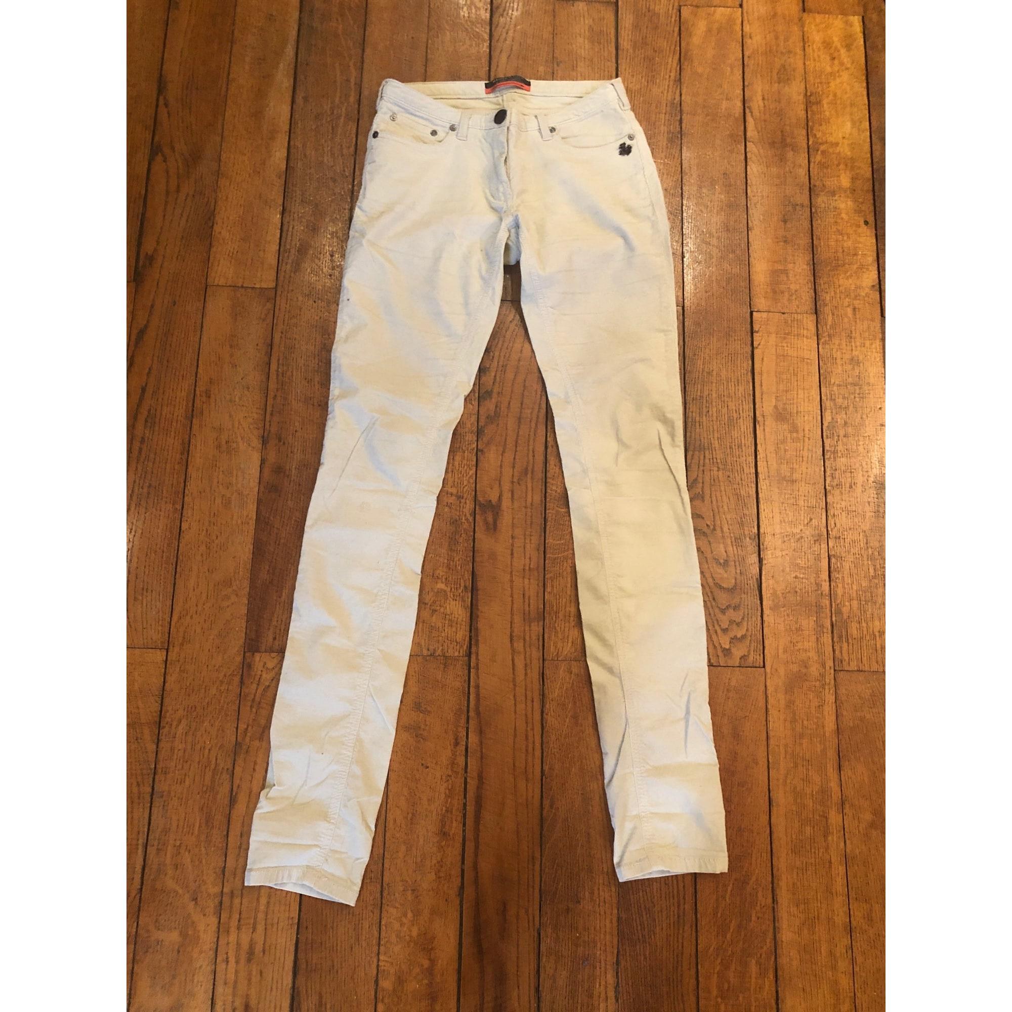 Pantalon slim, cigarette MAISON SCOTCH Blanc, blanc cassé, écru