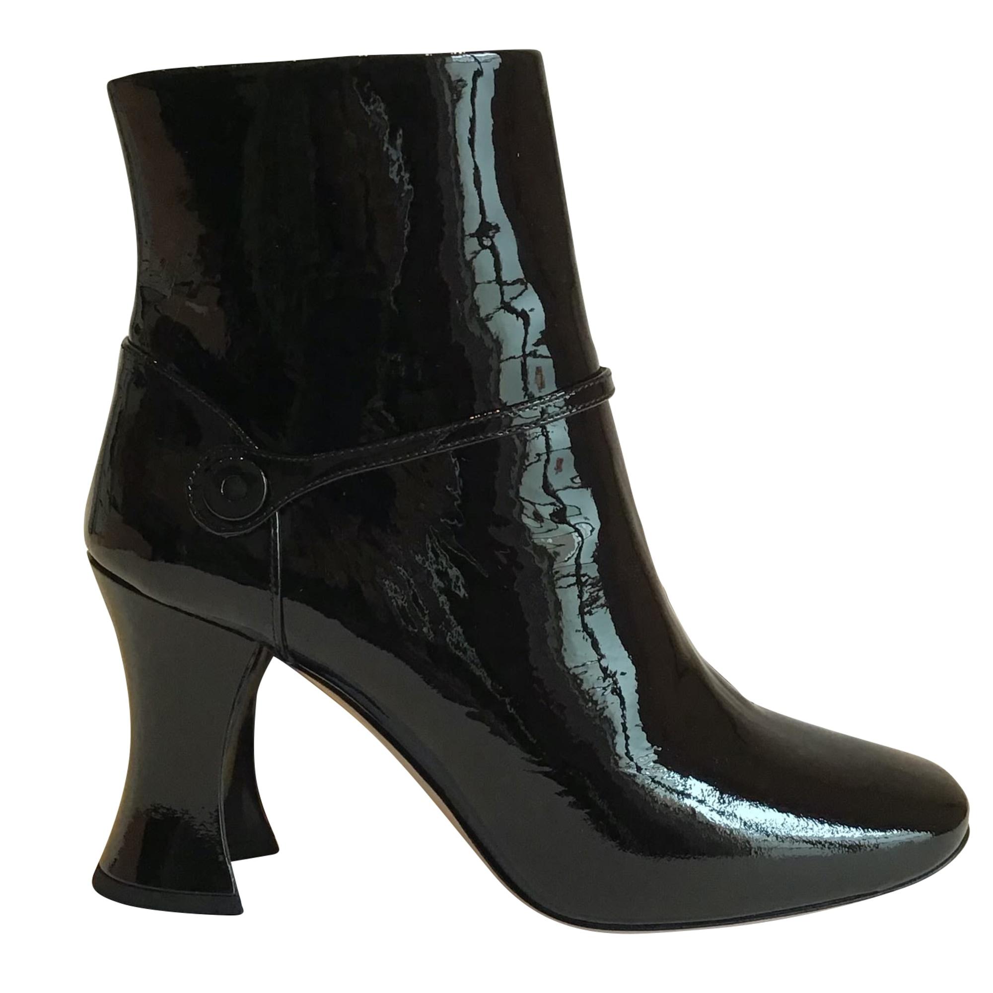 Bottines & low boots à talons MIU MIU Noir
