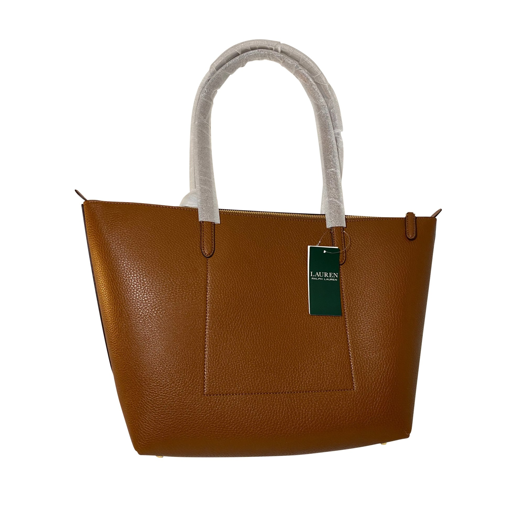 Sac à main en cuir RALPH LAUREN Marron