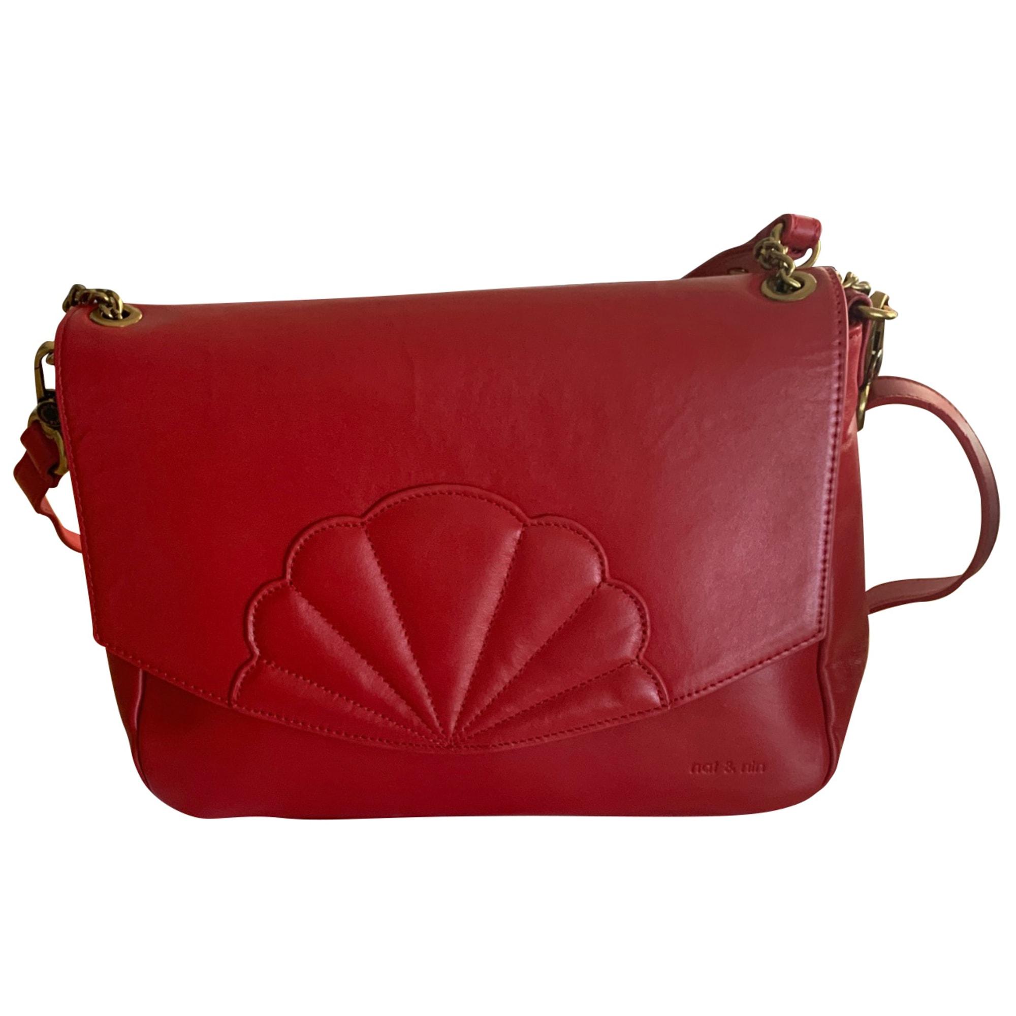 Lederhandtasche NAT & NIN Rot, bordeauxrot
