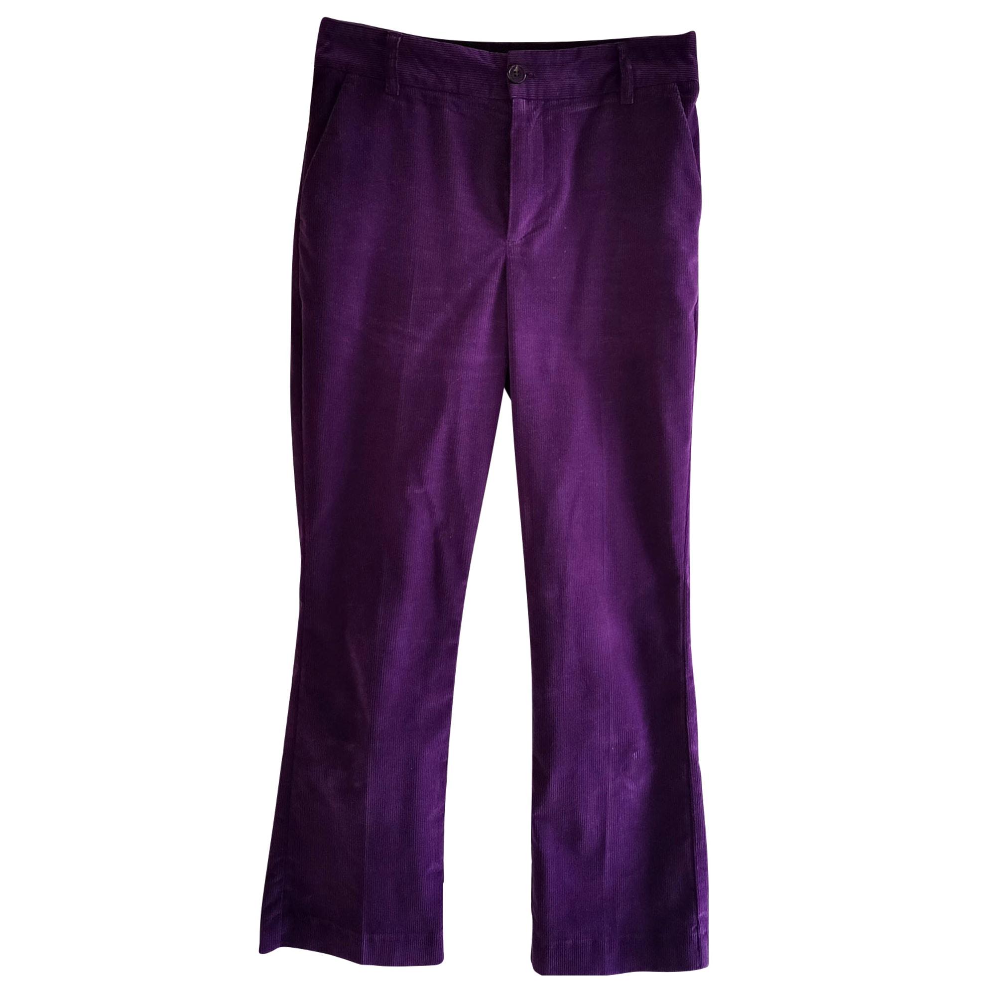 Pantalon évasé SOEUR Violet, mauve, lavande