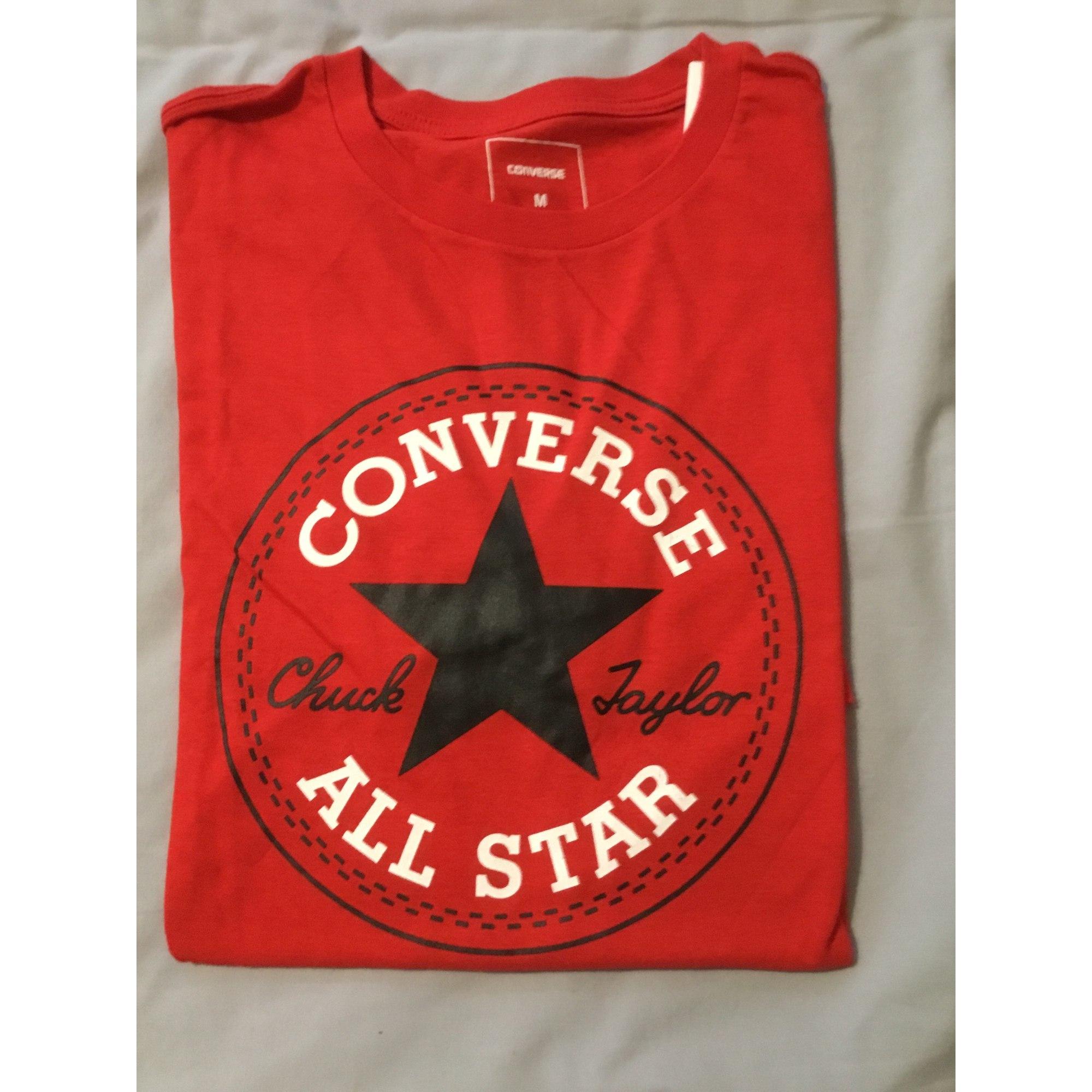 Tee-shirt CONVERSE Rouge, bordeaux