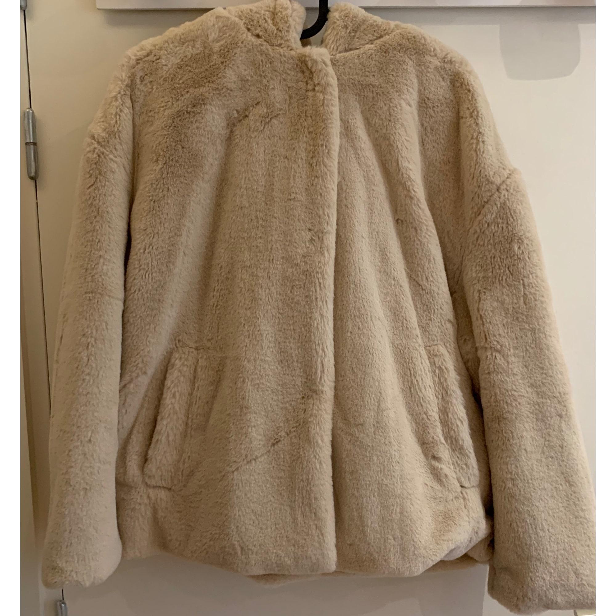 Manteau en fourrure ZARA Beige, camel