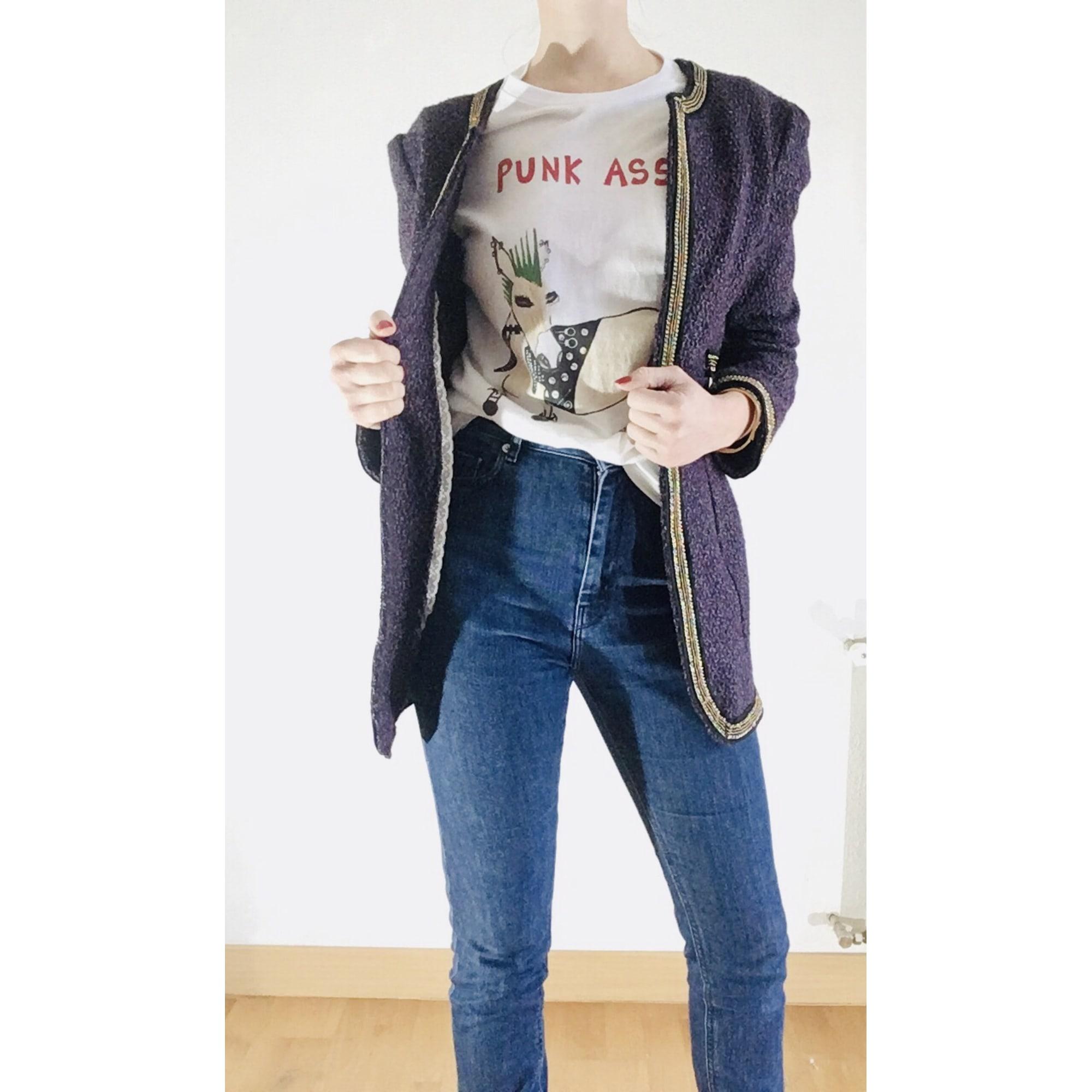 Blazer, veste tailleur MOI Violet, mauve, lavande