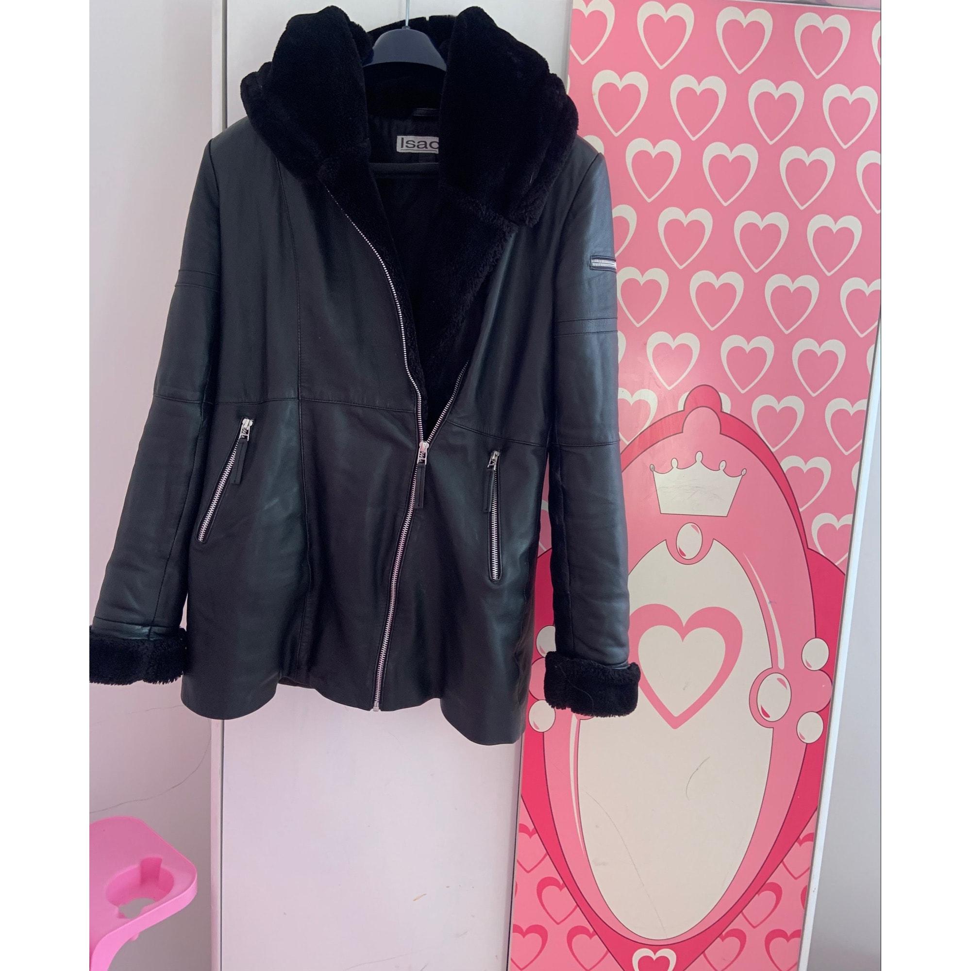 Manteau en cuir ISACO Noir