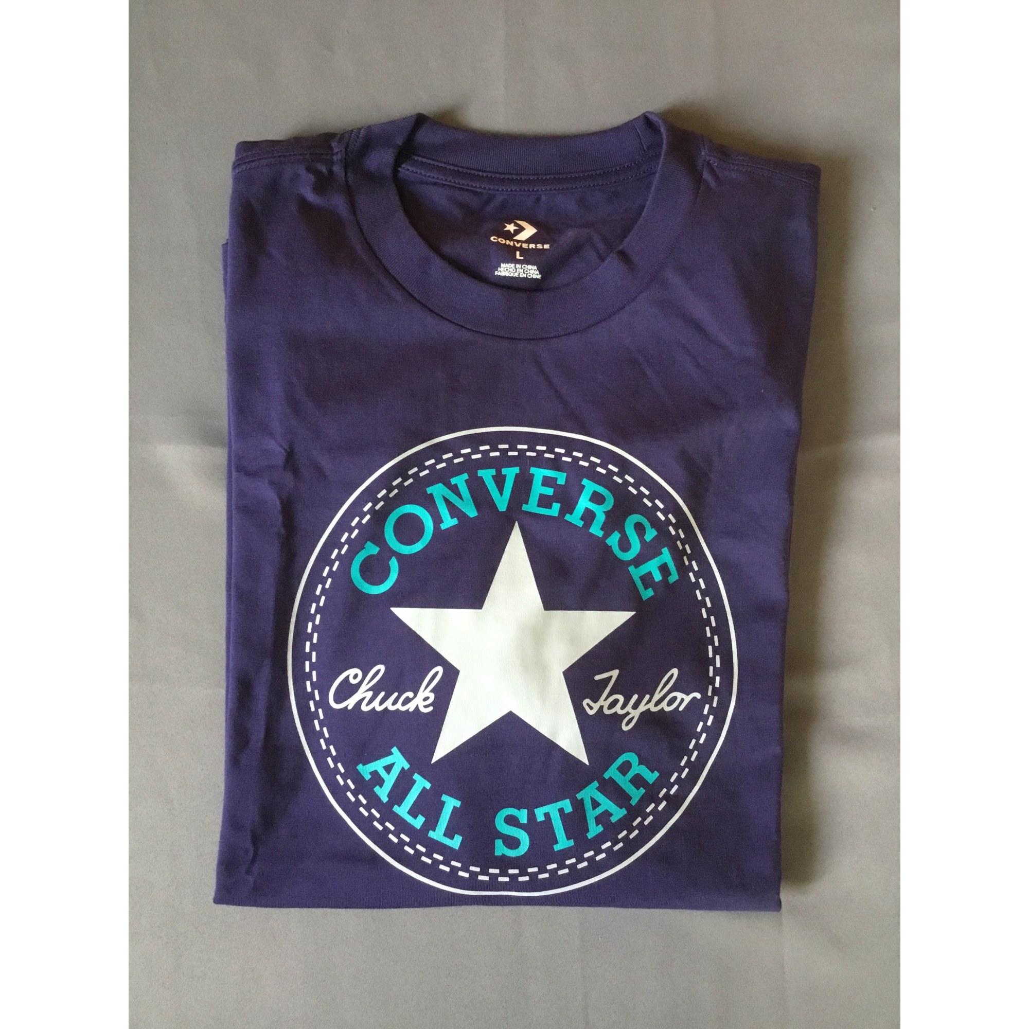Tee-shirt CONVERSE Violet, mauve, lavande