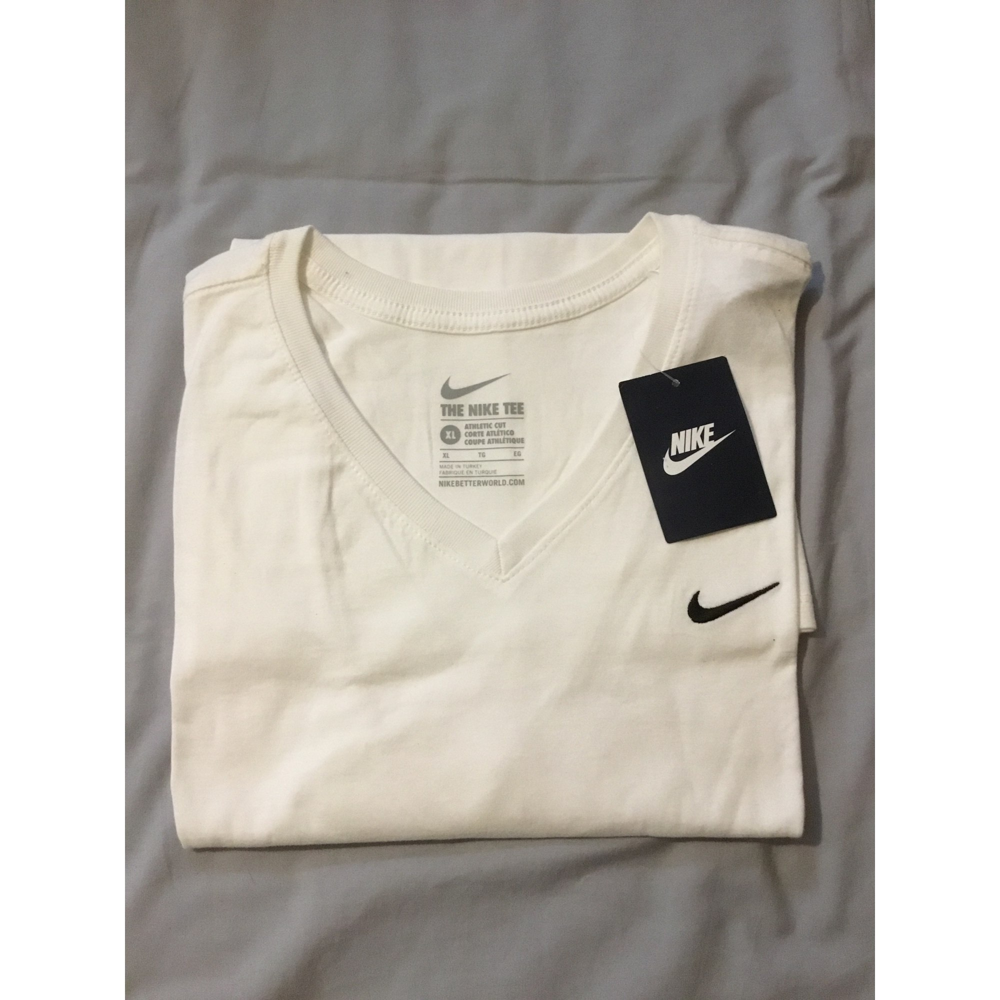 Tee-shirt NIKE Blanc, blanc cassé, écru