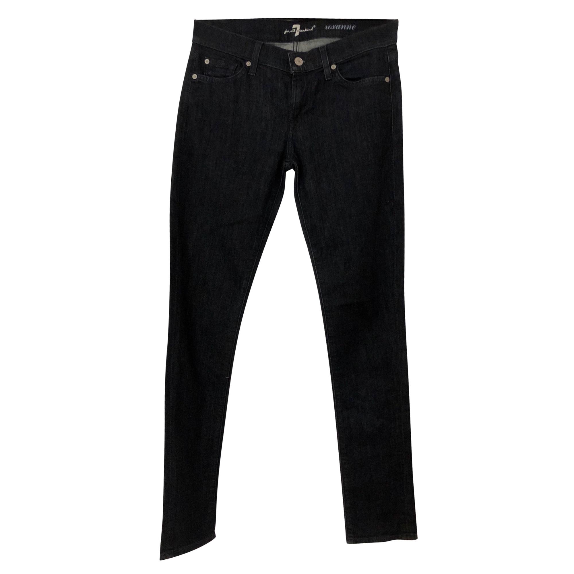 Jeans slim 7 FOR ALL MANKIND Bleu, bleu marine, bleu turquoise