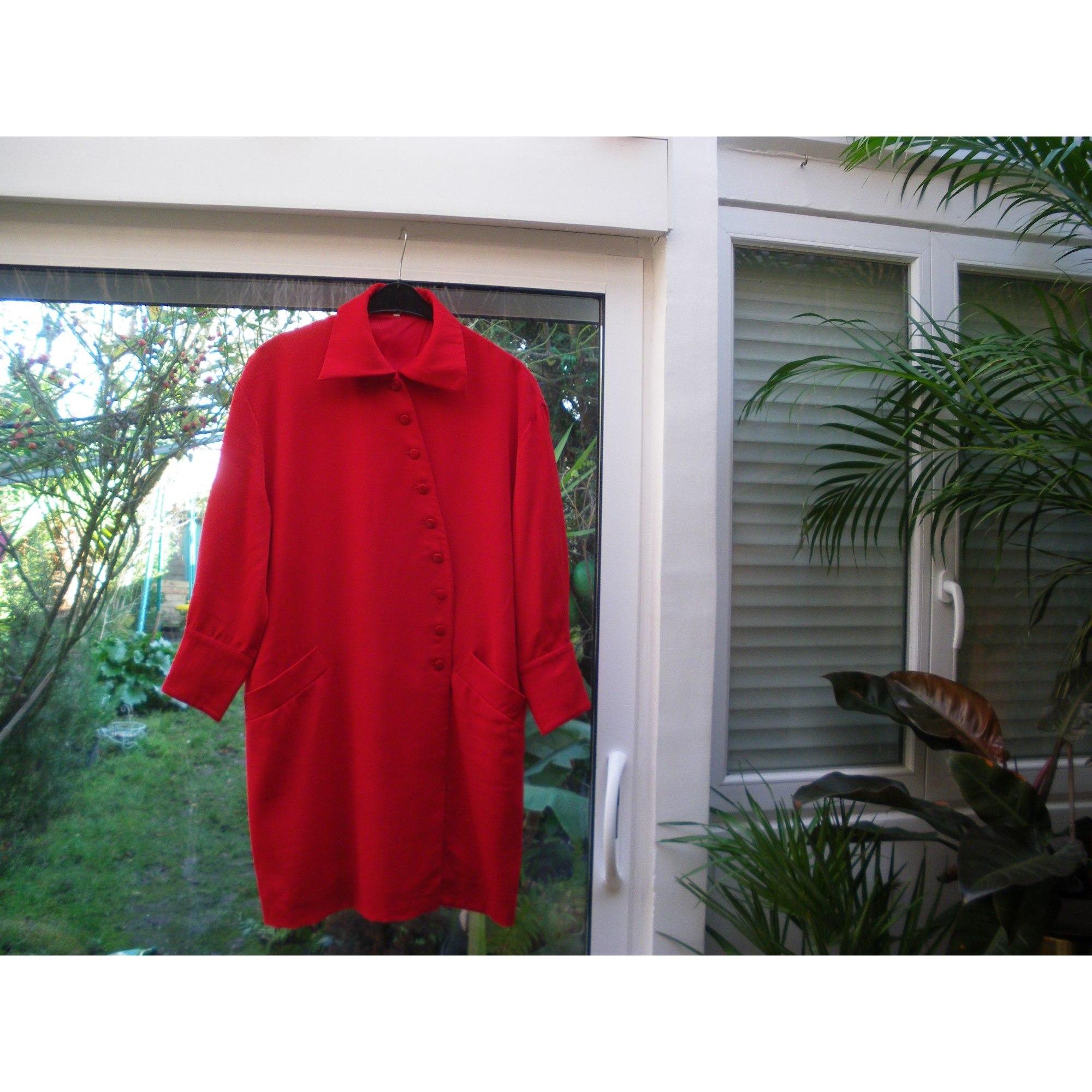 Robe mi-longue GUY LAROCHE Rouge, bordeaux