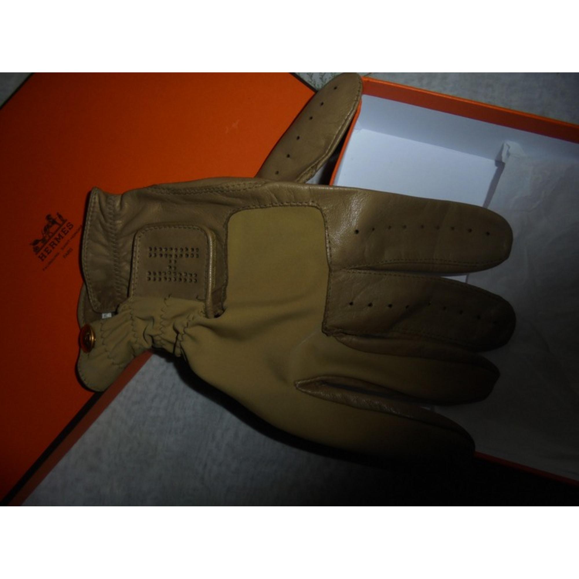 Handschuhe HERMÈS Beige