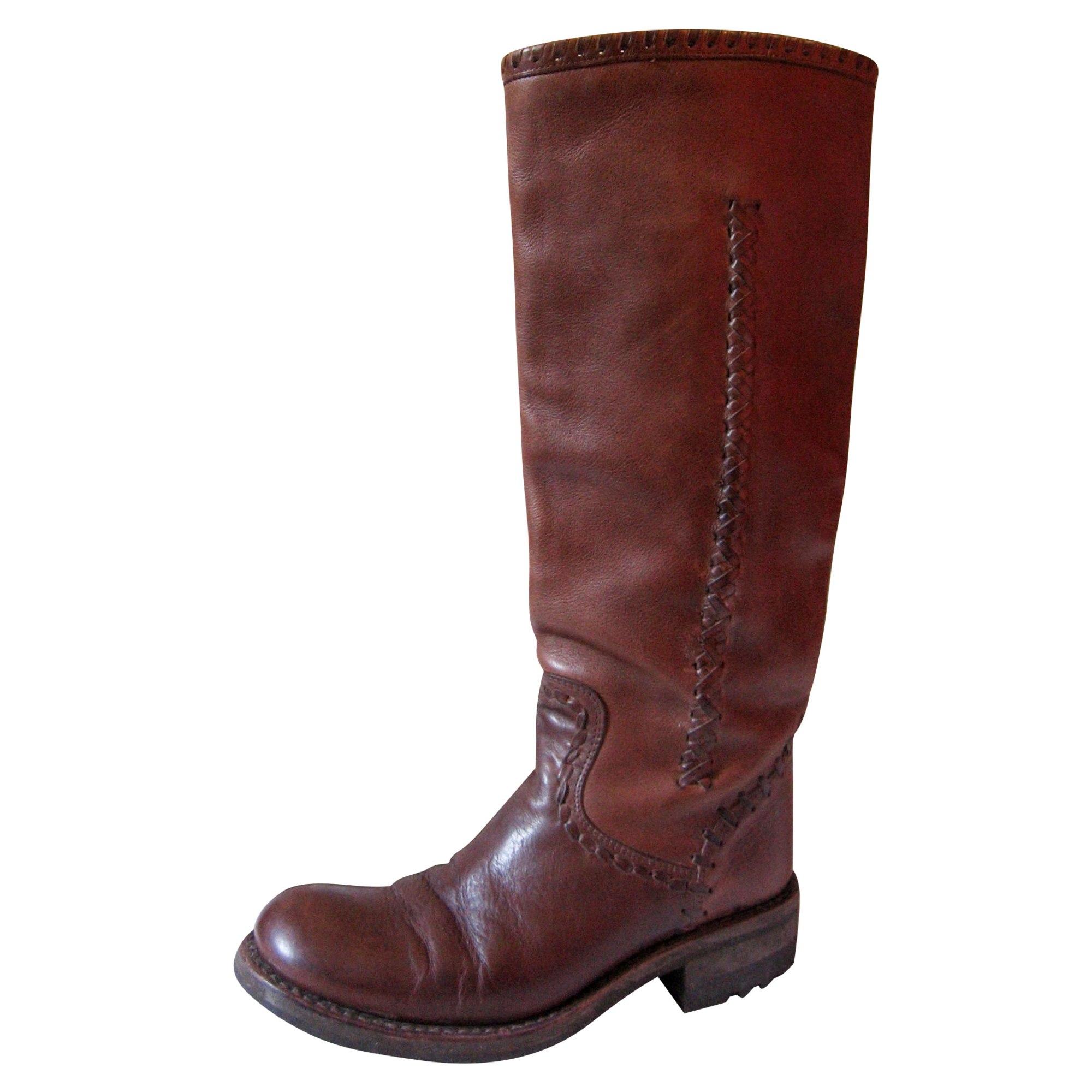 Bottines & low boots plates FREE LANCE Marron