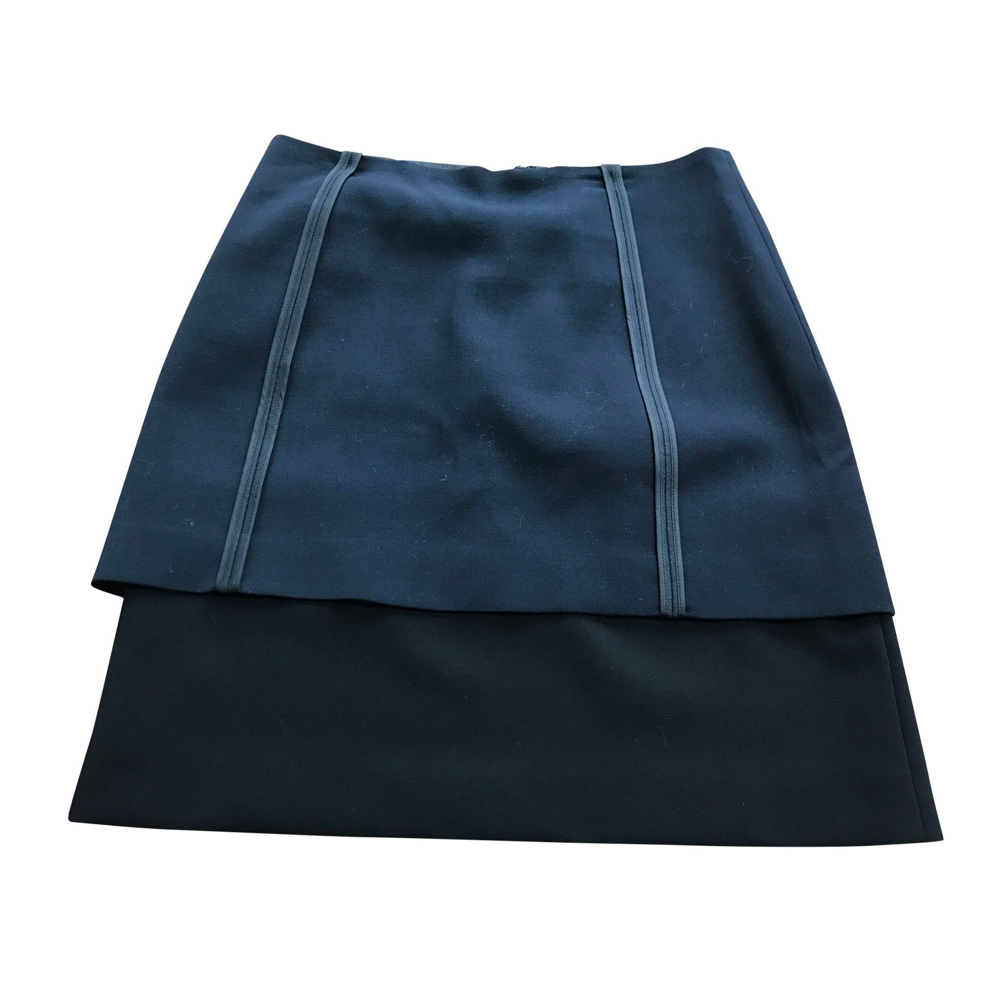 Jupe mi-longue CÉDRIC CHARLIER Bleu, bleu marine, bleu turquoise