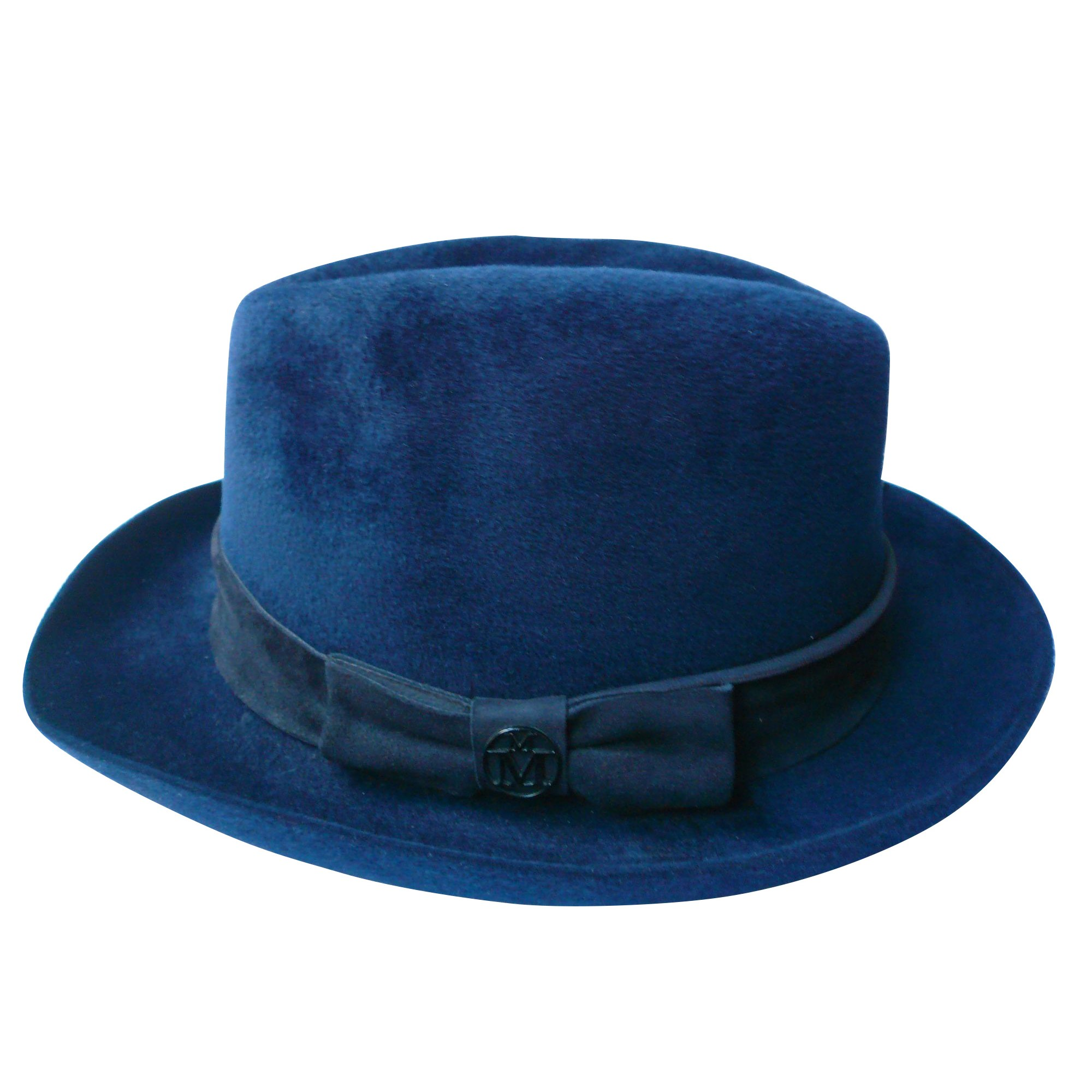 Chapeau MAISON MICHEL Bleu, bleu marine, bleu turquoise