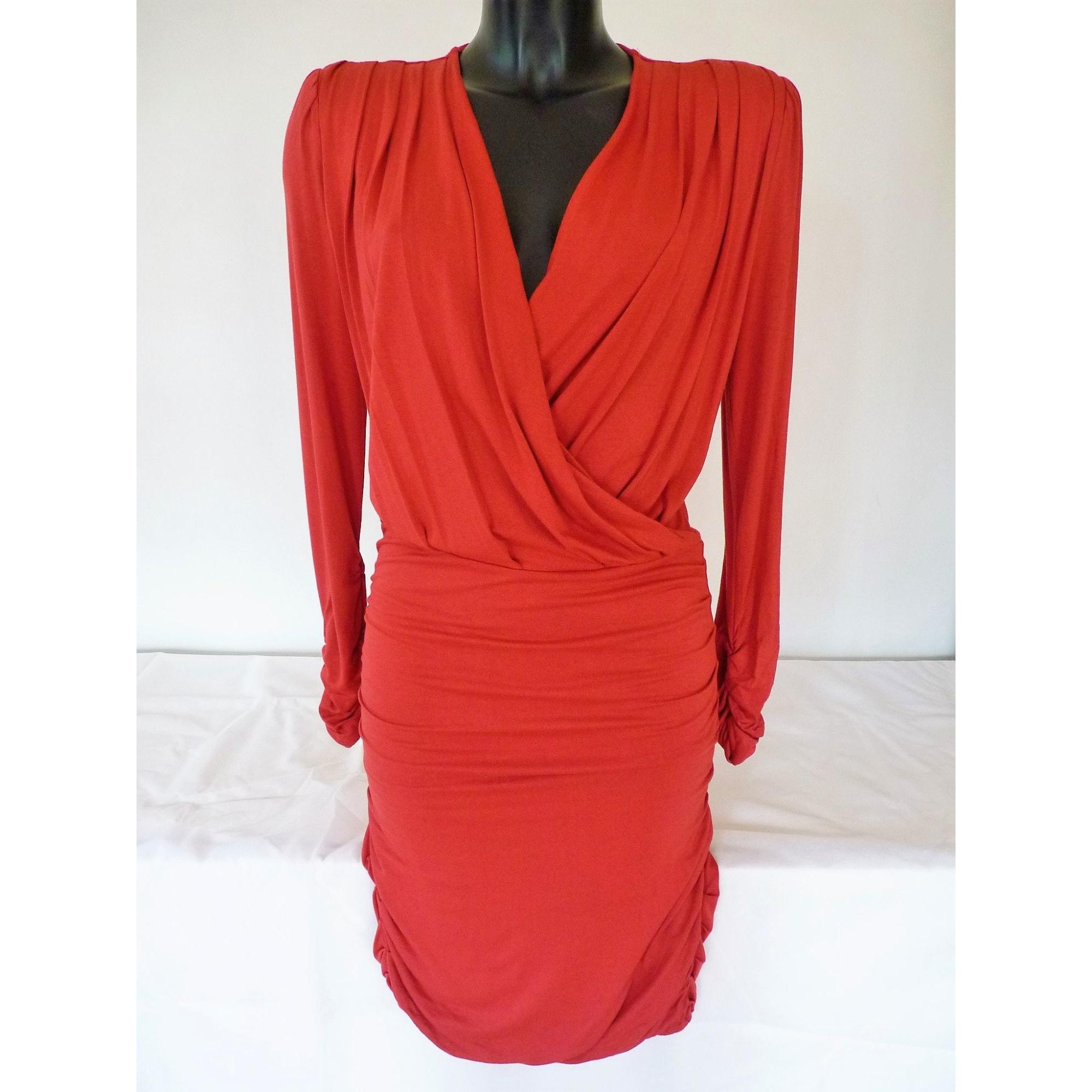Robe mi-longue 1.2.3 Rouge, bordeaux
