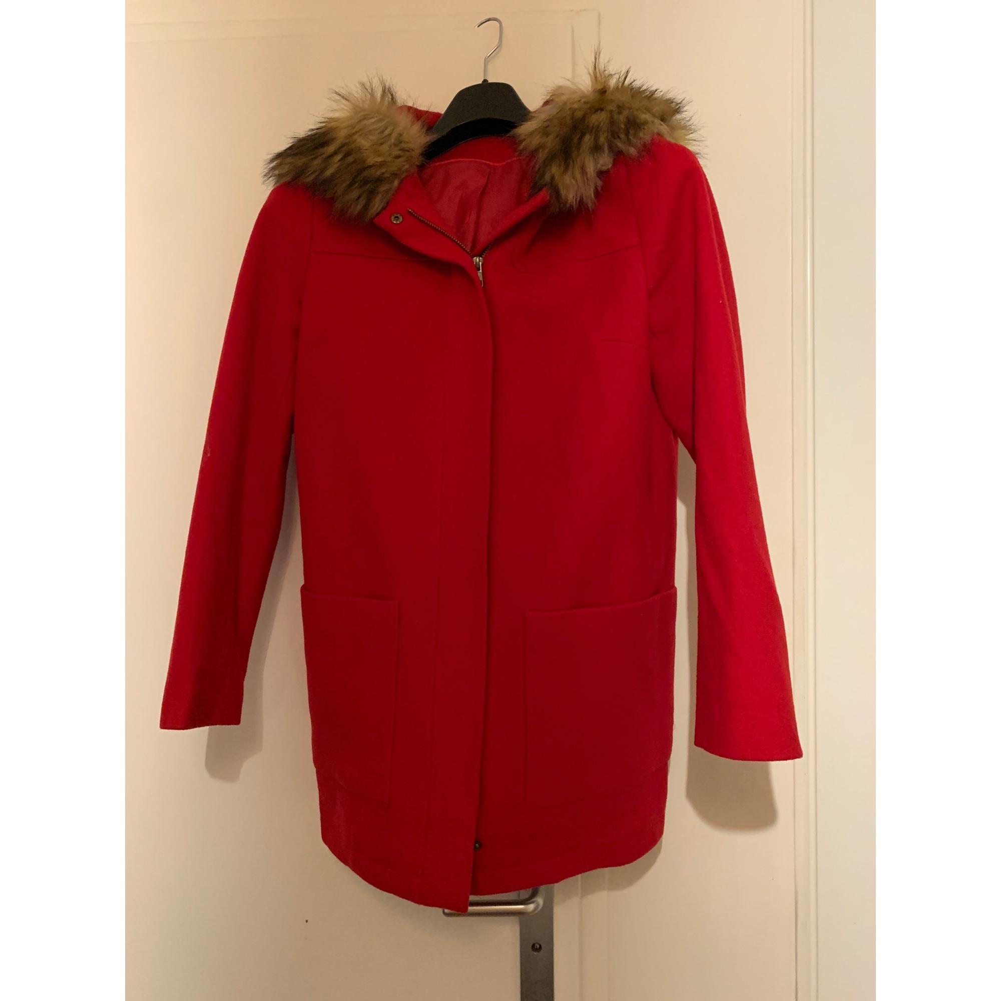 Manteau NAF NAF Rouge, bordeaux