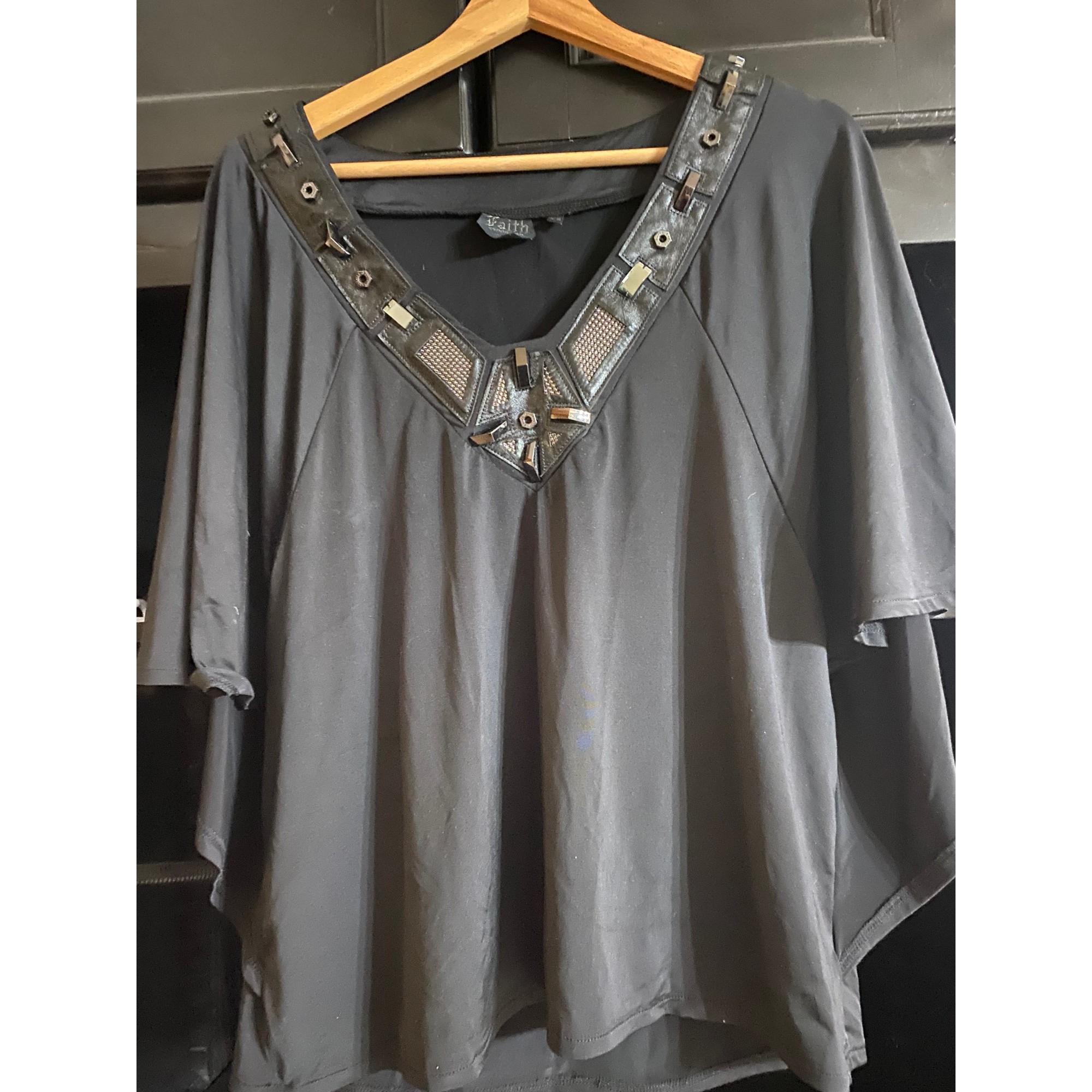 Top, tee-shirt FAITH CONNEXION Noir