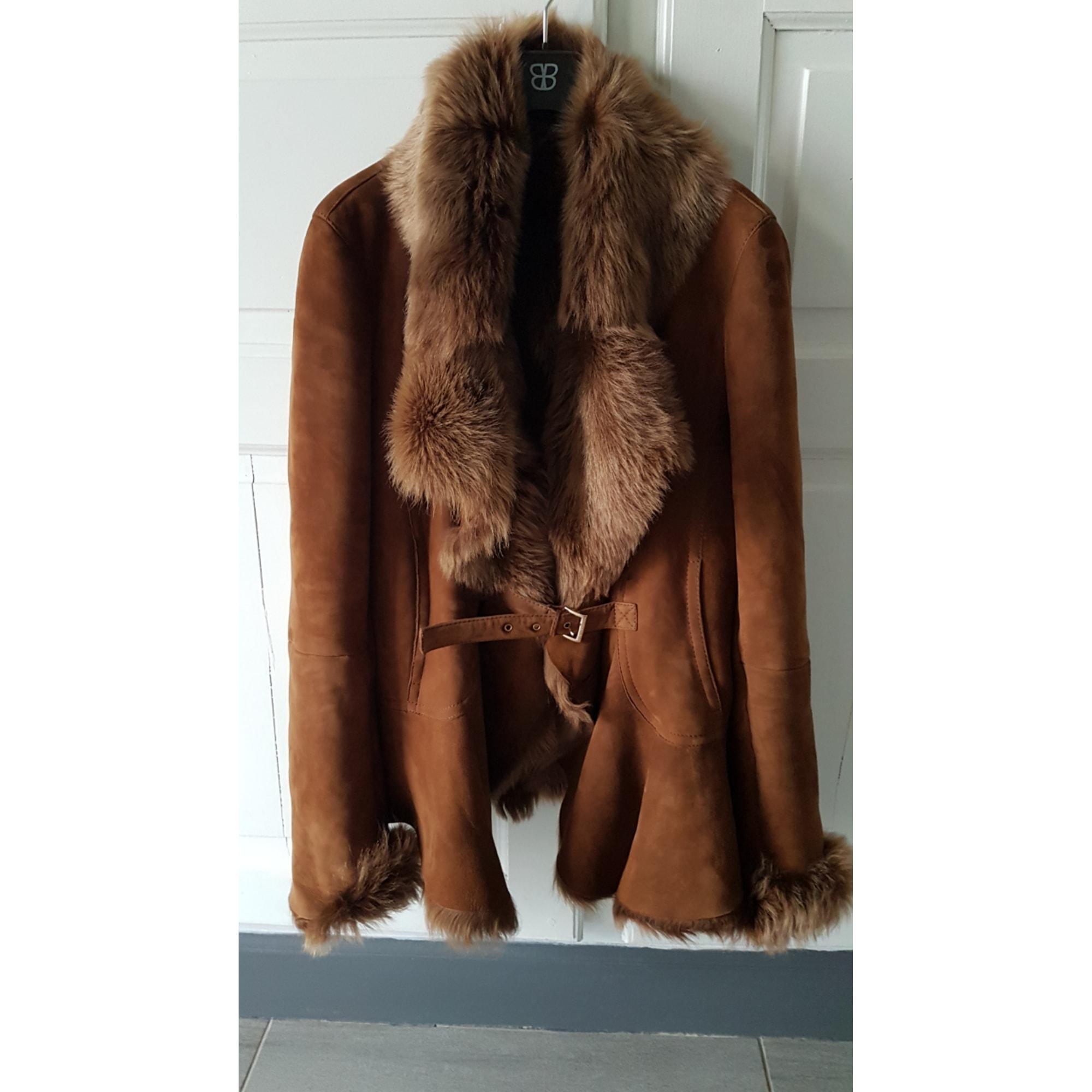 Manteau en fourrure MAX MARA Beige, camel