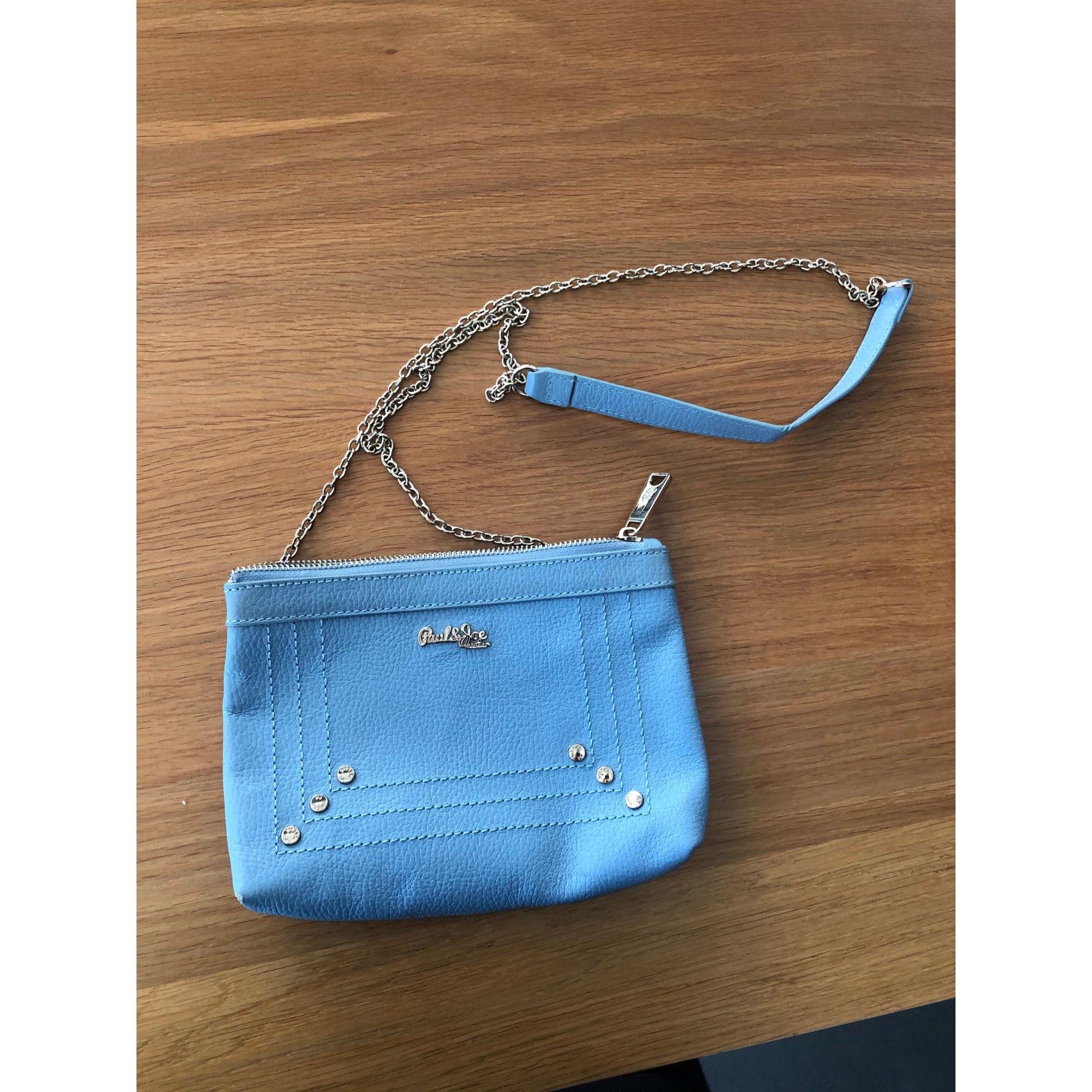 Sac pochette en cuir PAUL & JOE SISTER Bleu, bleu marine, bleu turquoise