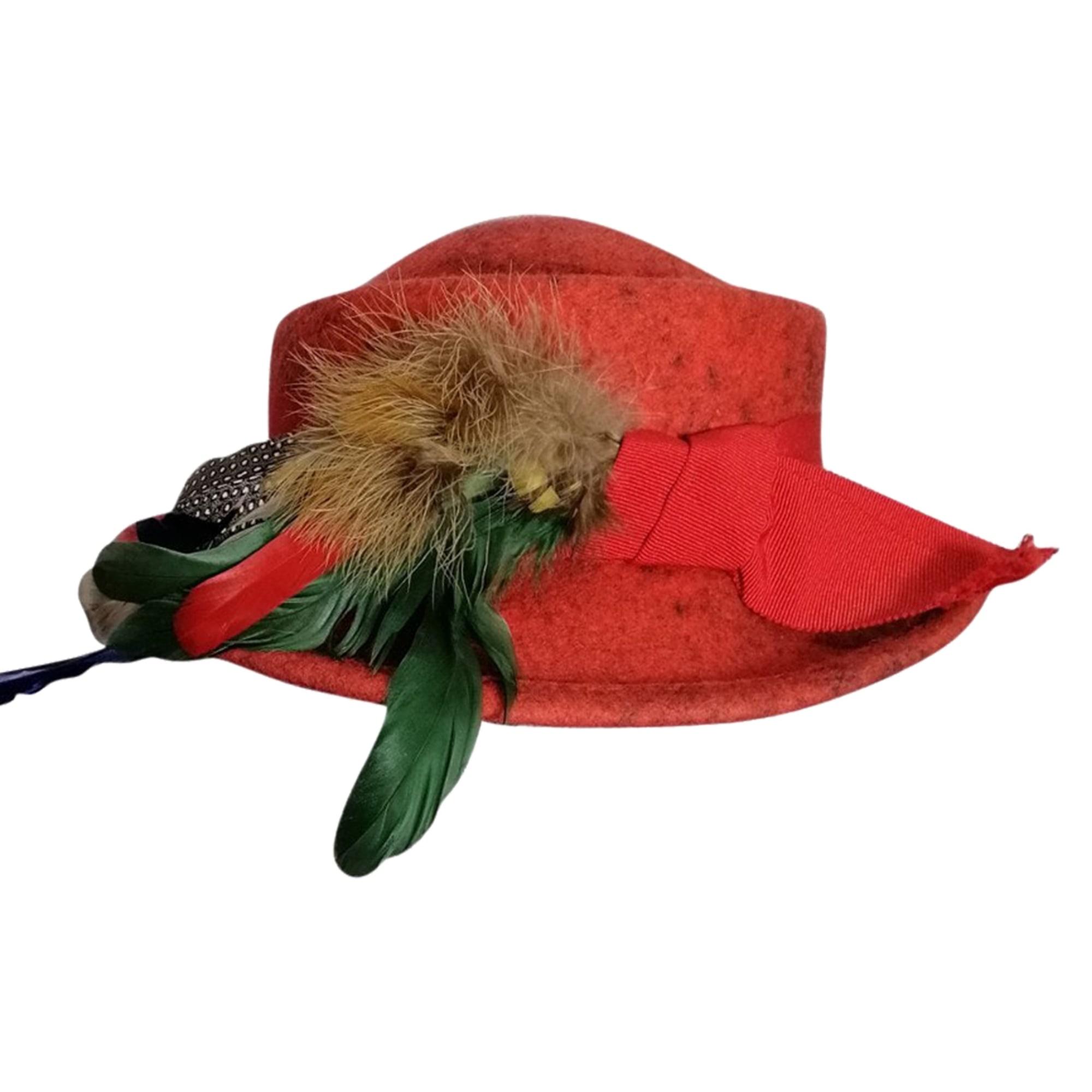 Chapeau VINTAGE Rouge, bordeaux