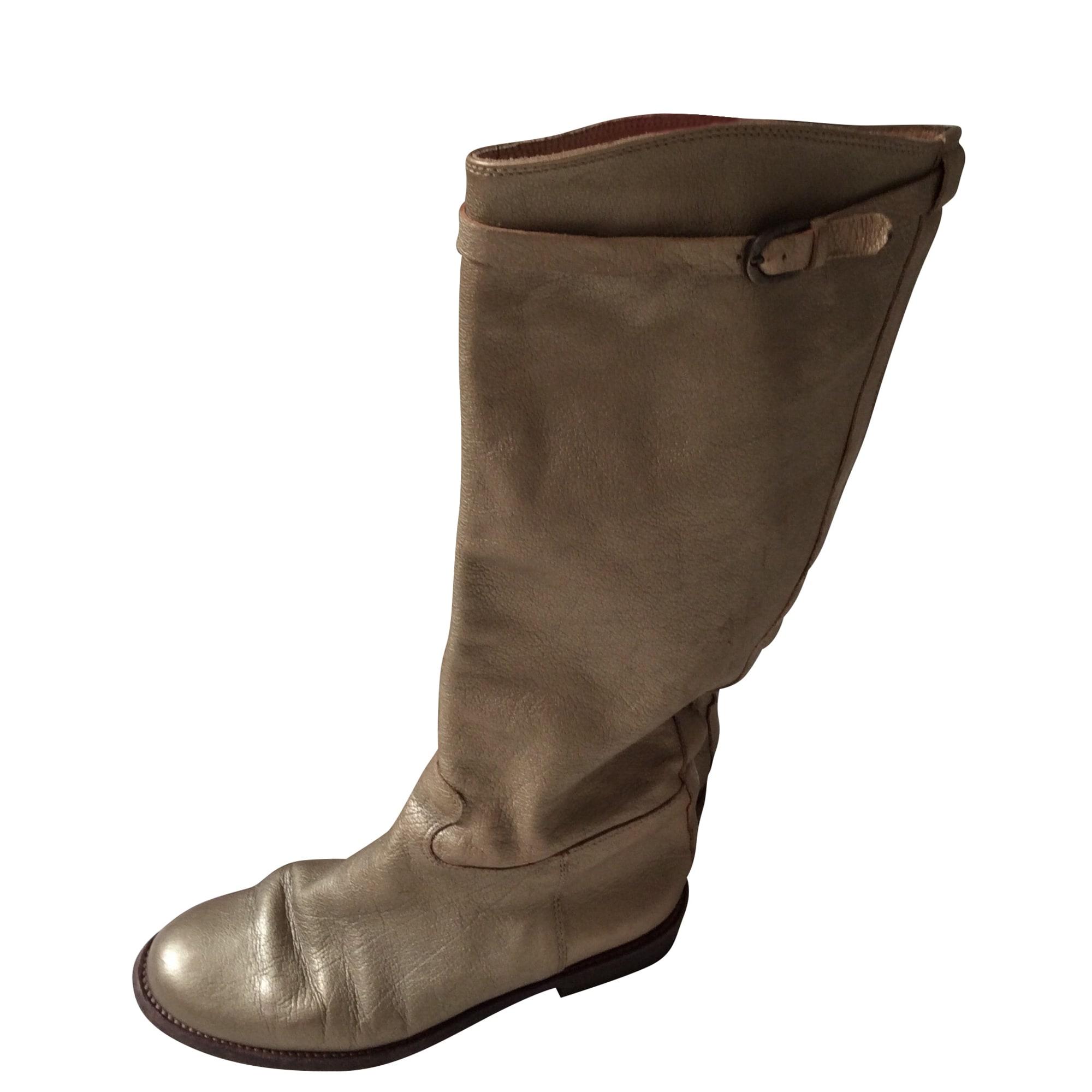 Flat Boots FREE LANCE Golden, bronze, copper