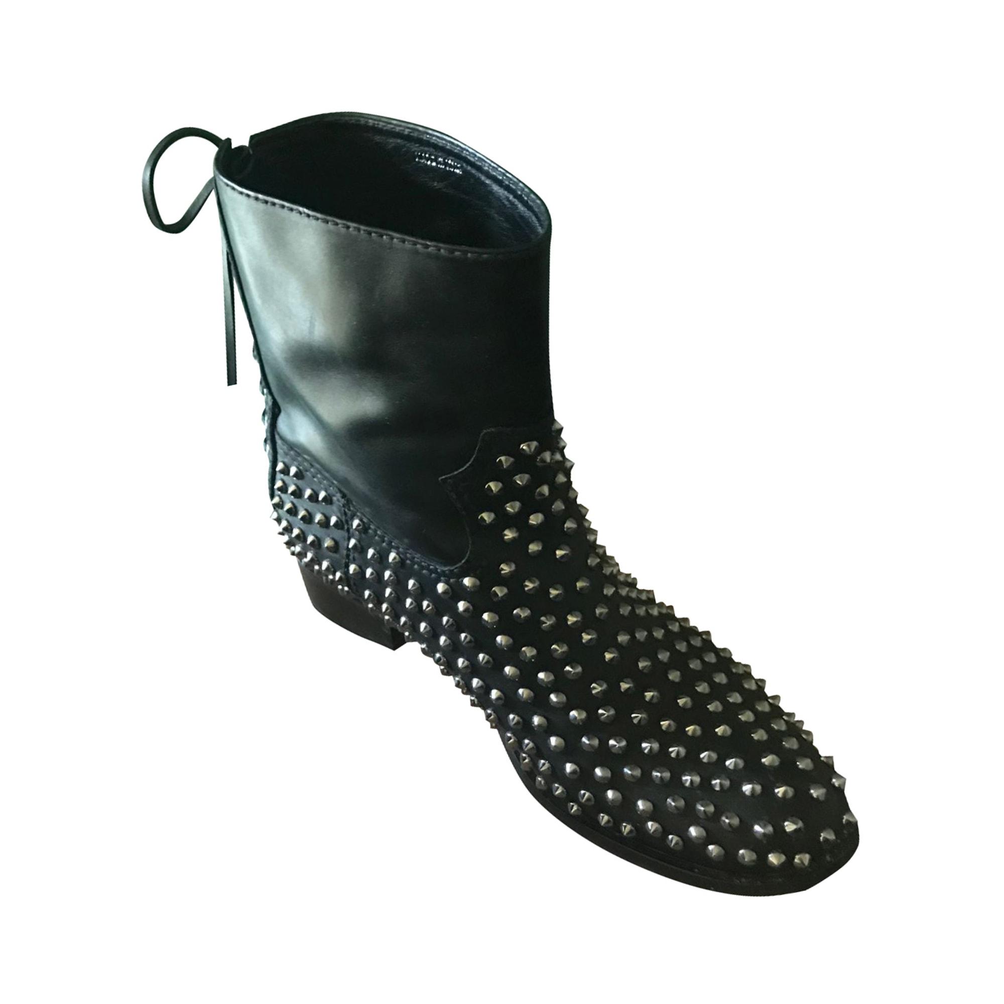 Bottines & low boots plates MIU MIU Noir