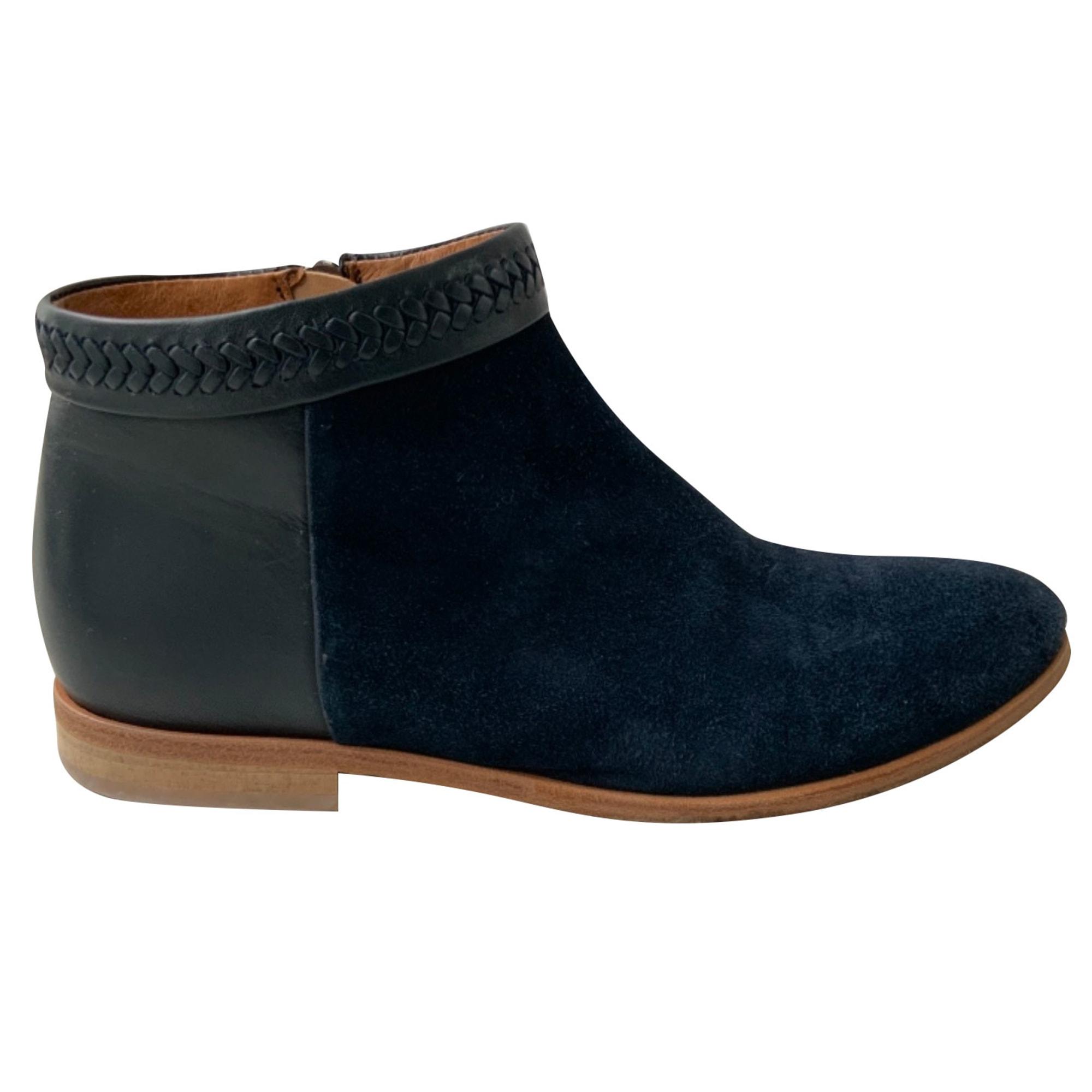 Bottines & low boots plates COMPTOIR DES COTONNIERS Bleu, bleu marine, bleu turquoise