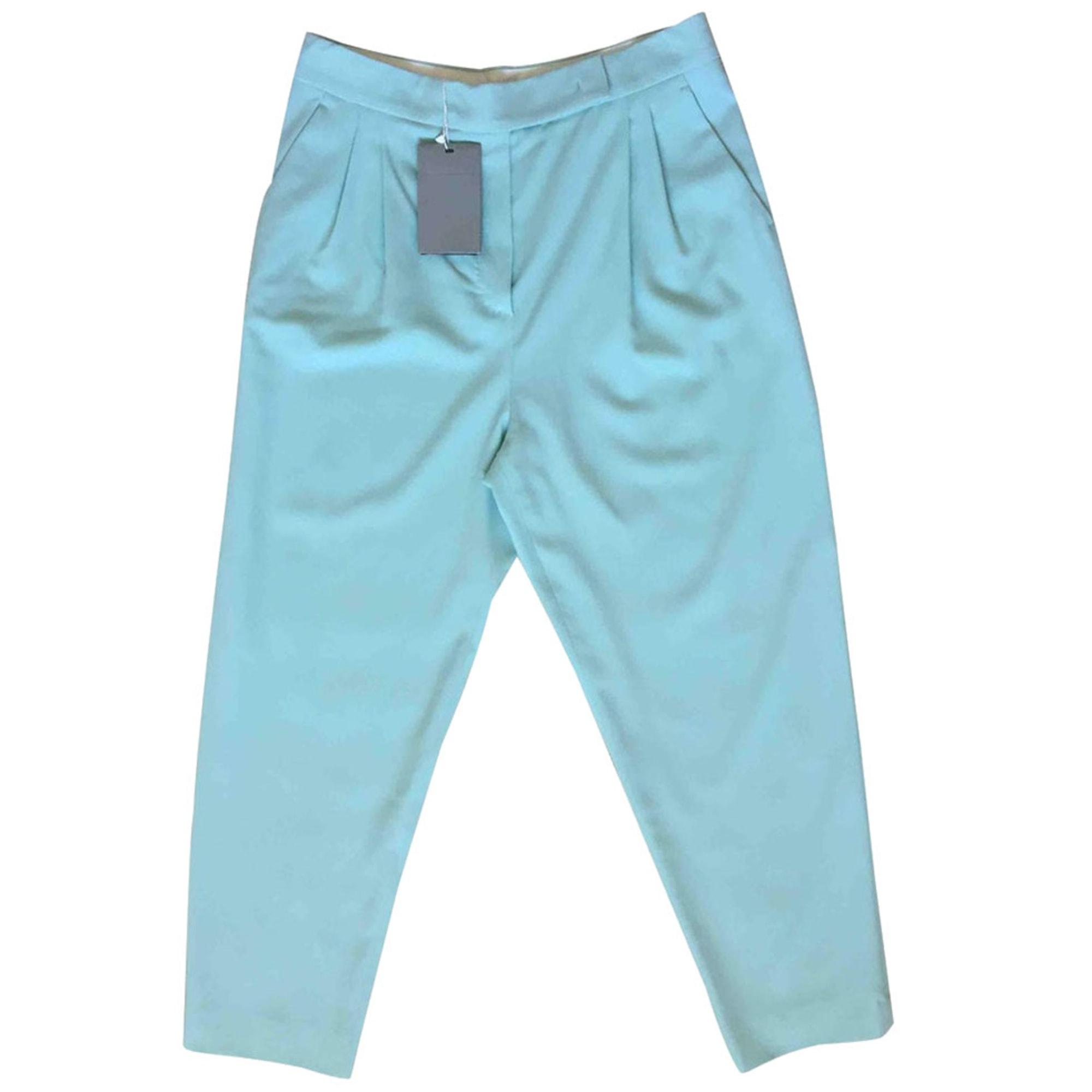 Pantalon droit MAX MARA Bleu, bleu marine, bleu turquoise