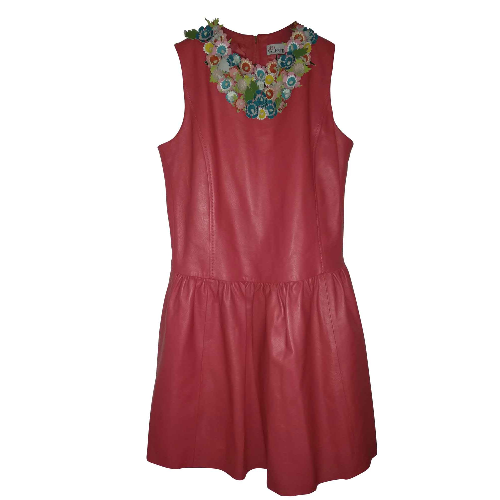 Robe courte RED VALENTINO Rouge, bordeaux