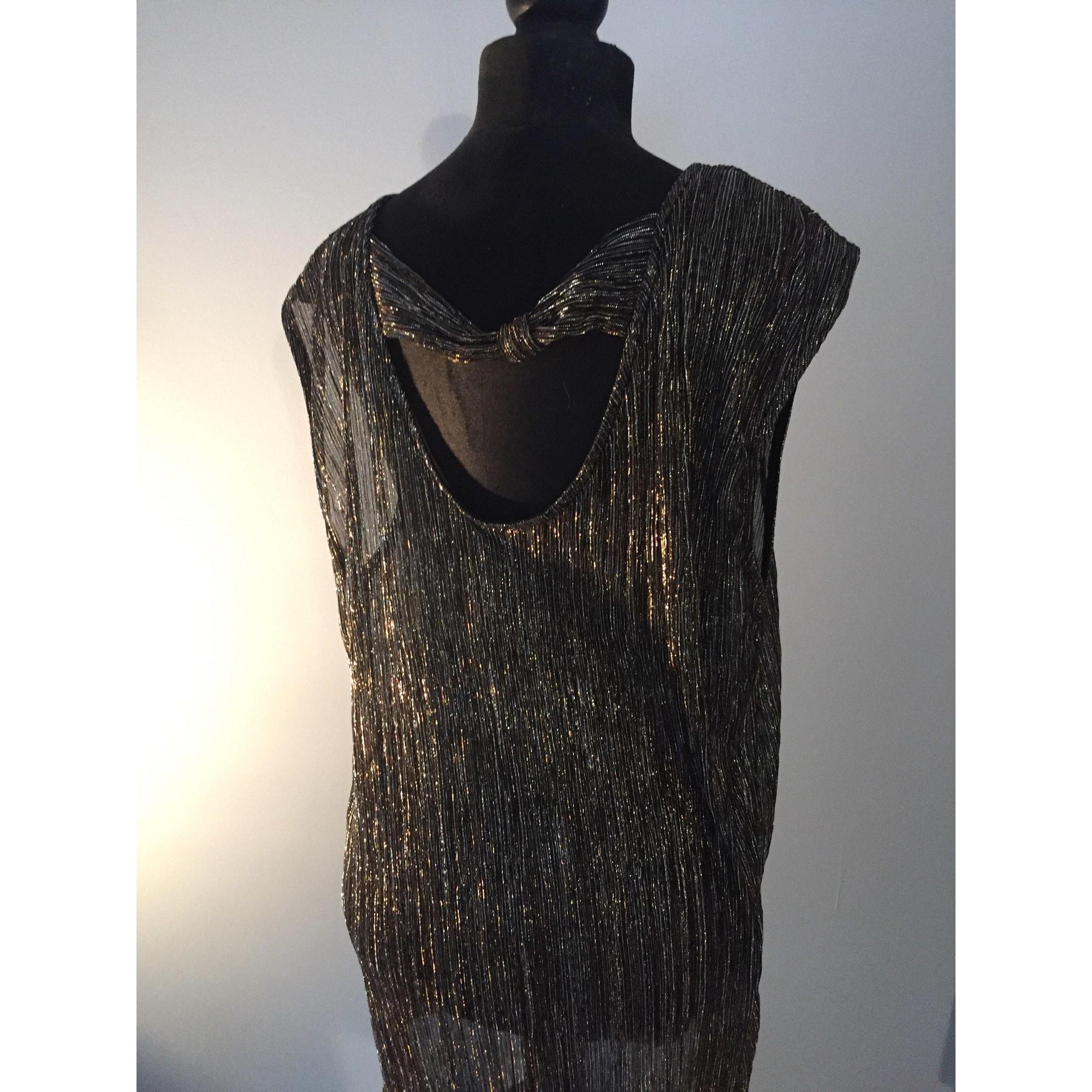 Top, tee-shirt MARQUE INCONNUE Doré, bronze, cuivre