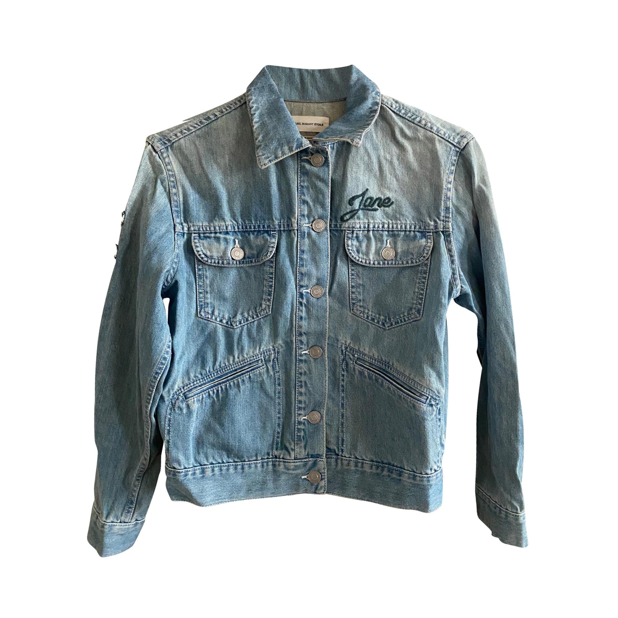 Veste en jean ISABEL MARANT ETOILE Bleu, bleu marine, bleu turquoise