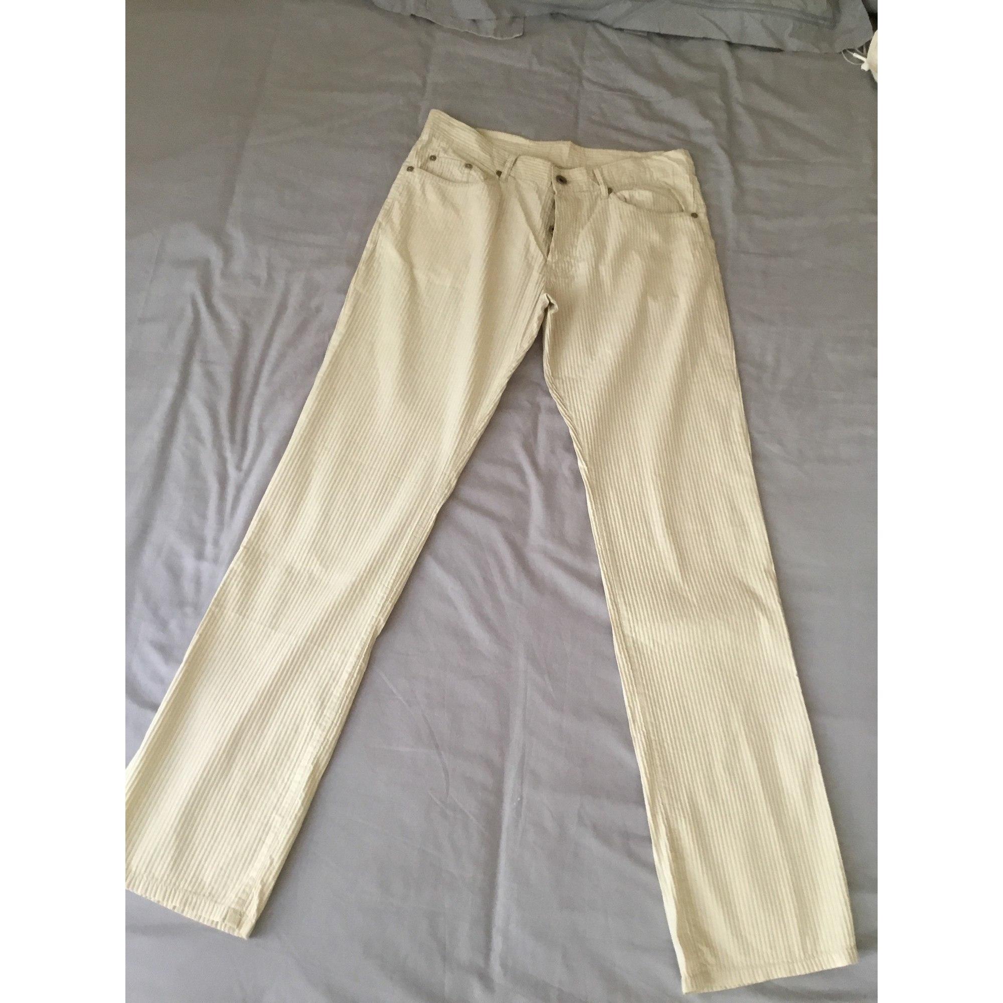 Pantalon droit CARNET DE VOL Beige, camel