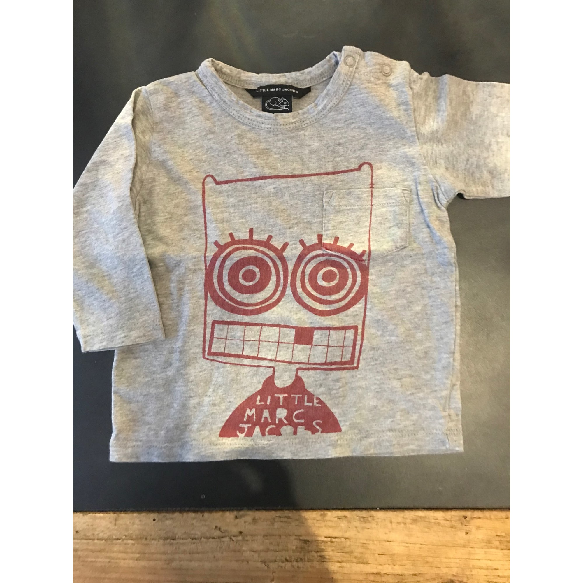 Top, tee shirt MARC JACOBS Gris, anthracite