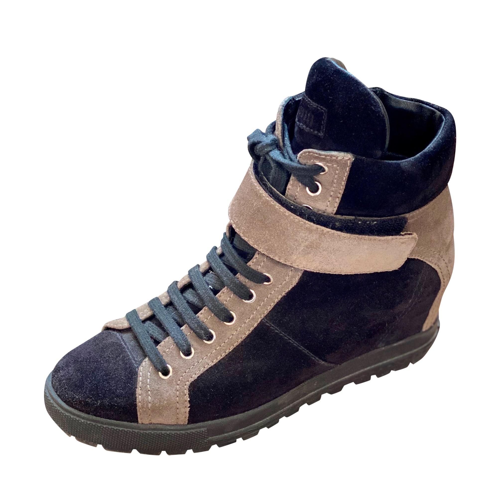 Bottines & low boots à compensés MIU MIU Noir