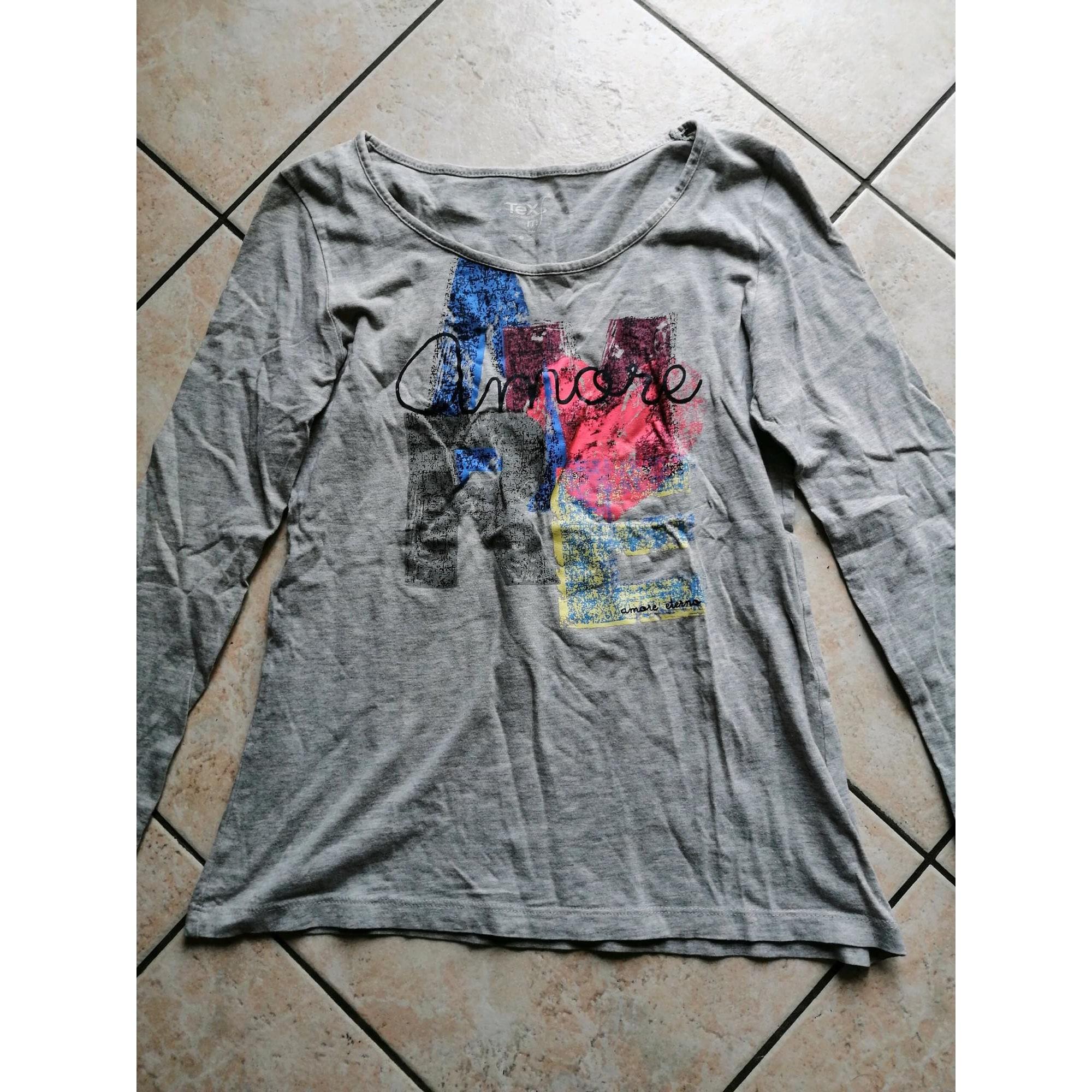 Top, tee-shirt TEX Gris, anthracite