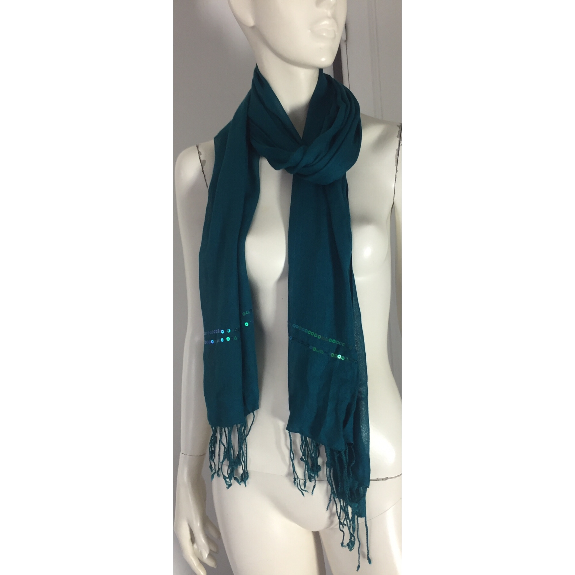 Echarpe PROMOD Bleu, bleu marine, bleu turquoise